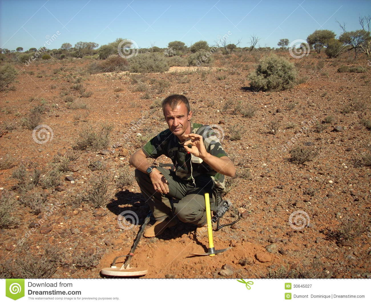 Jew Detector: Man Metal Detecting Editorial Photography. Image Of Bush