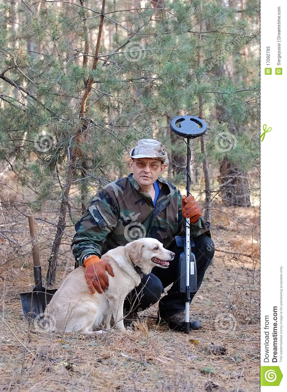 Jew Detector: Man With Metal Detector Stock Photos