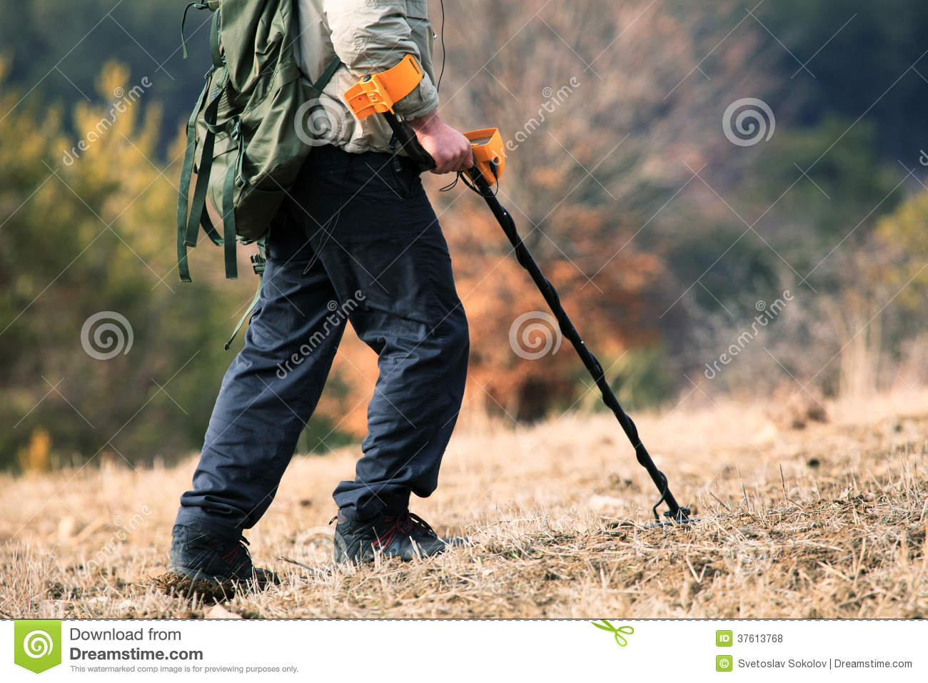 Jew Detector: Man And Metal Detector Stock Photo. Image Of Numismatics