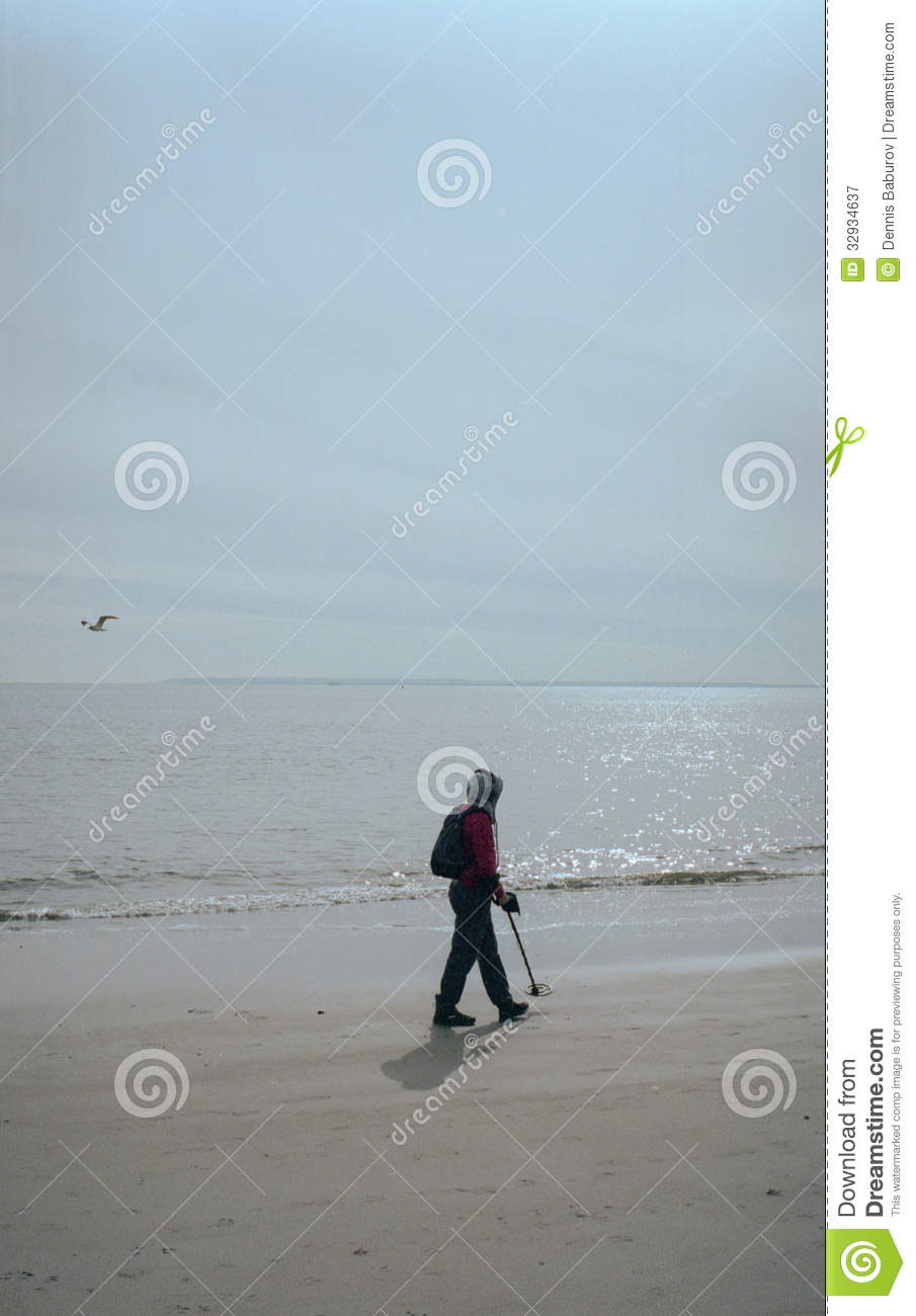 Jew Detector: Man With A Metal Detector Stock Image. Image Of