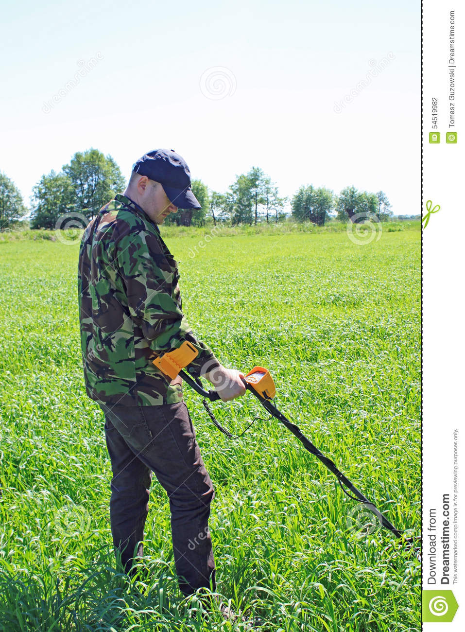 Jew Detector: Man With Metal Detector Stock Photo. Image Of