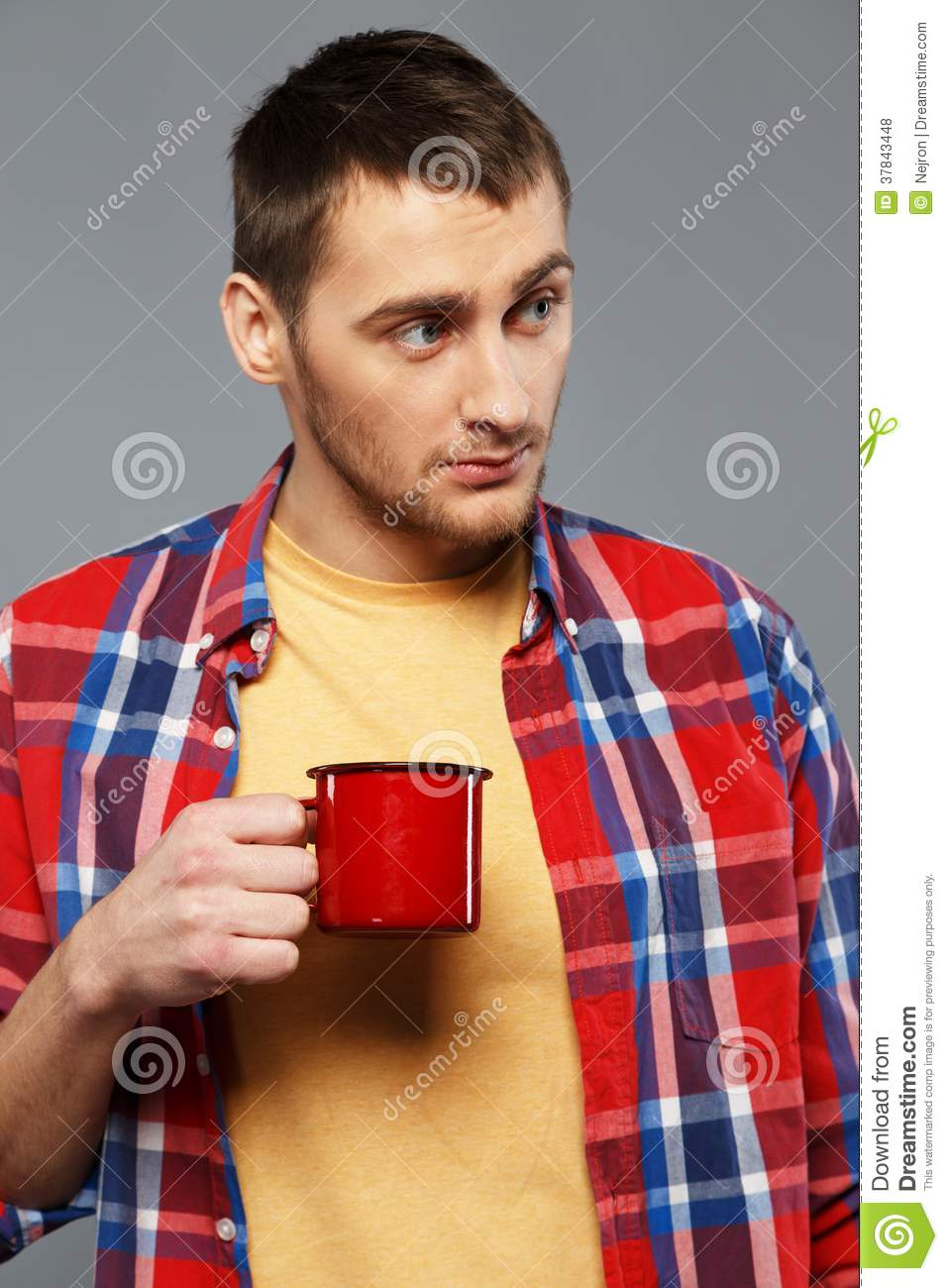 Jew Detector: Man With A Metal Mug Stock Photo. Image Of Confident