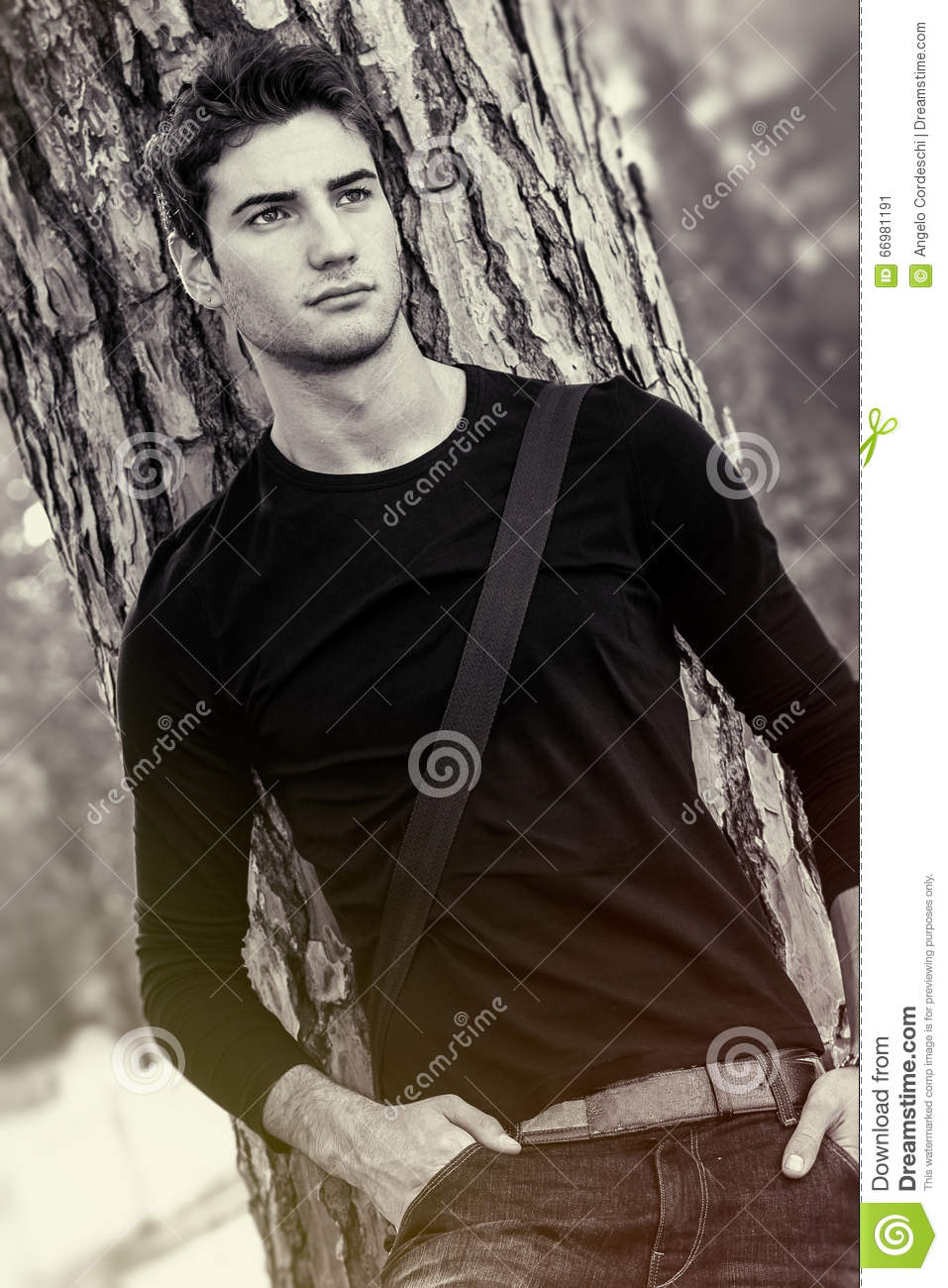 Man model natural and beautiful sweet lover boy black and white