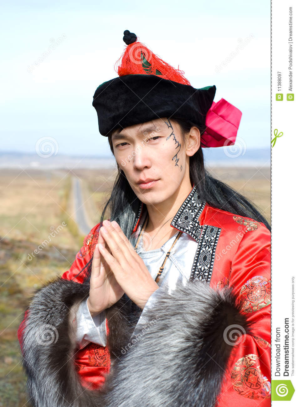 Man In Mongolian Costume Stock Image Image Of Mongolian