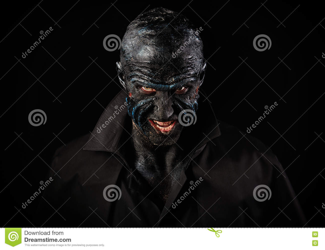man in monster makeup stock photo image of fantasy angry 78577636