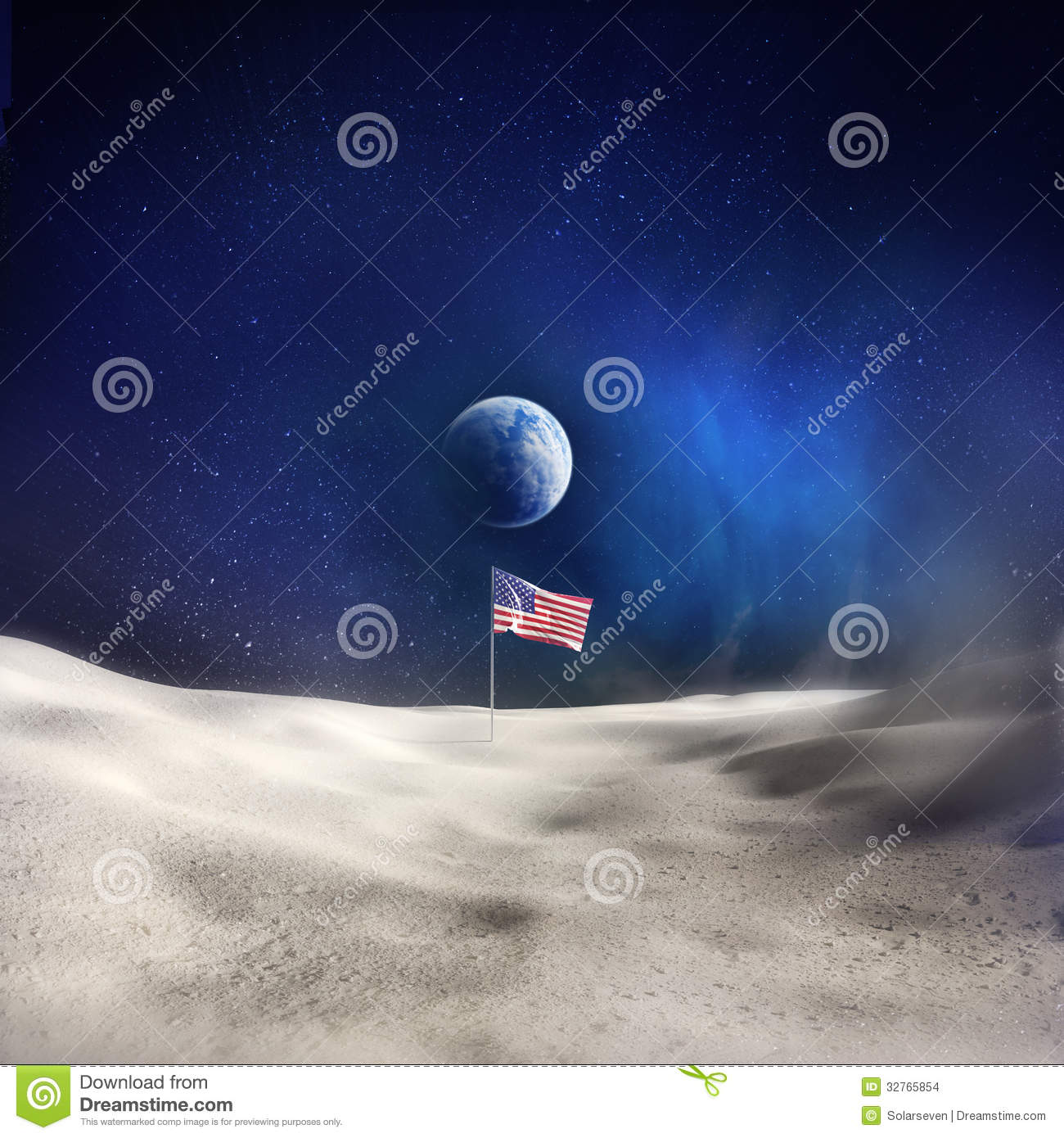 Man On The Moon Stock Images - Image: 32765854
