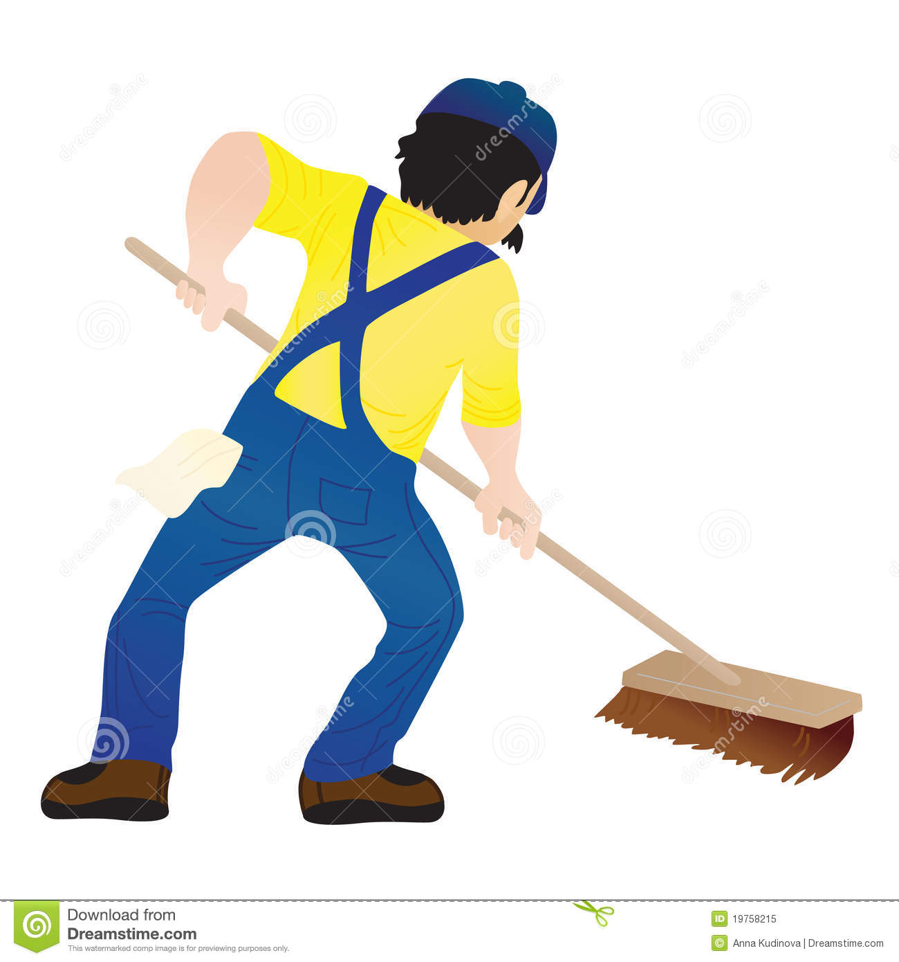 Man Mopping Floor Royalty Free Stock Photo Image 19758215