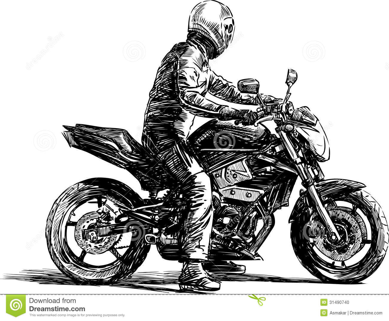 Man On A Motorcycle Stock Photo Image 31490740
