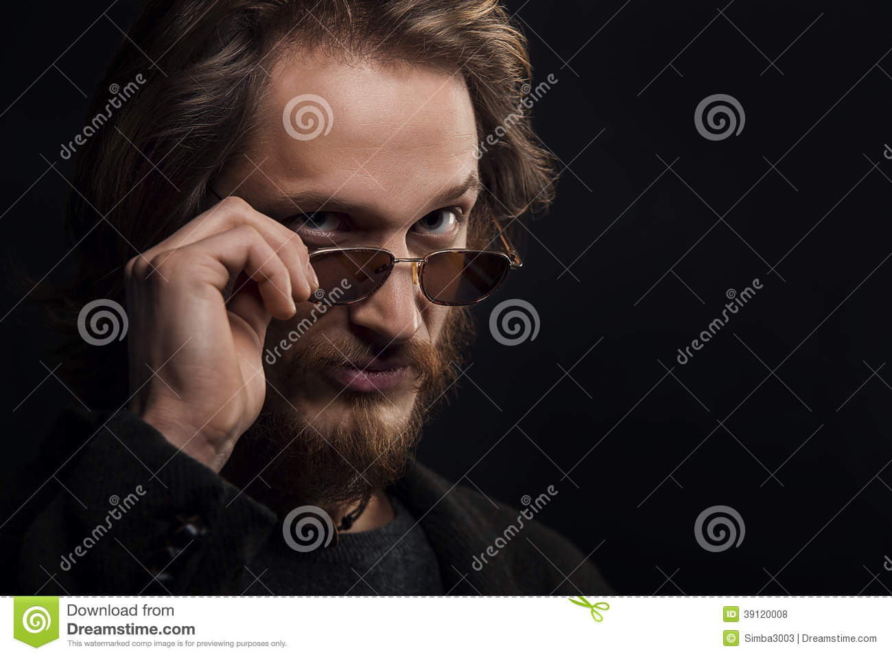 Man With Moustache And Beard Wearing Sunglasses