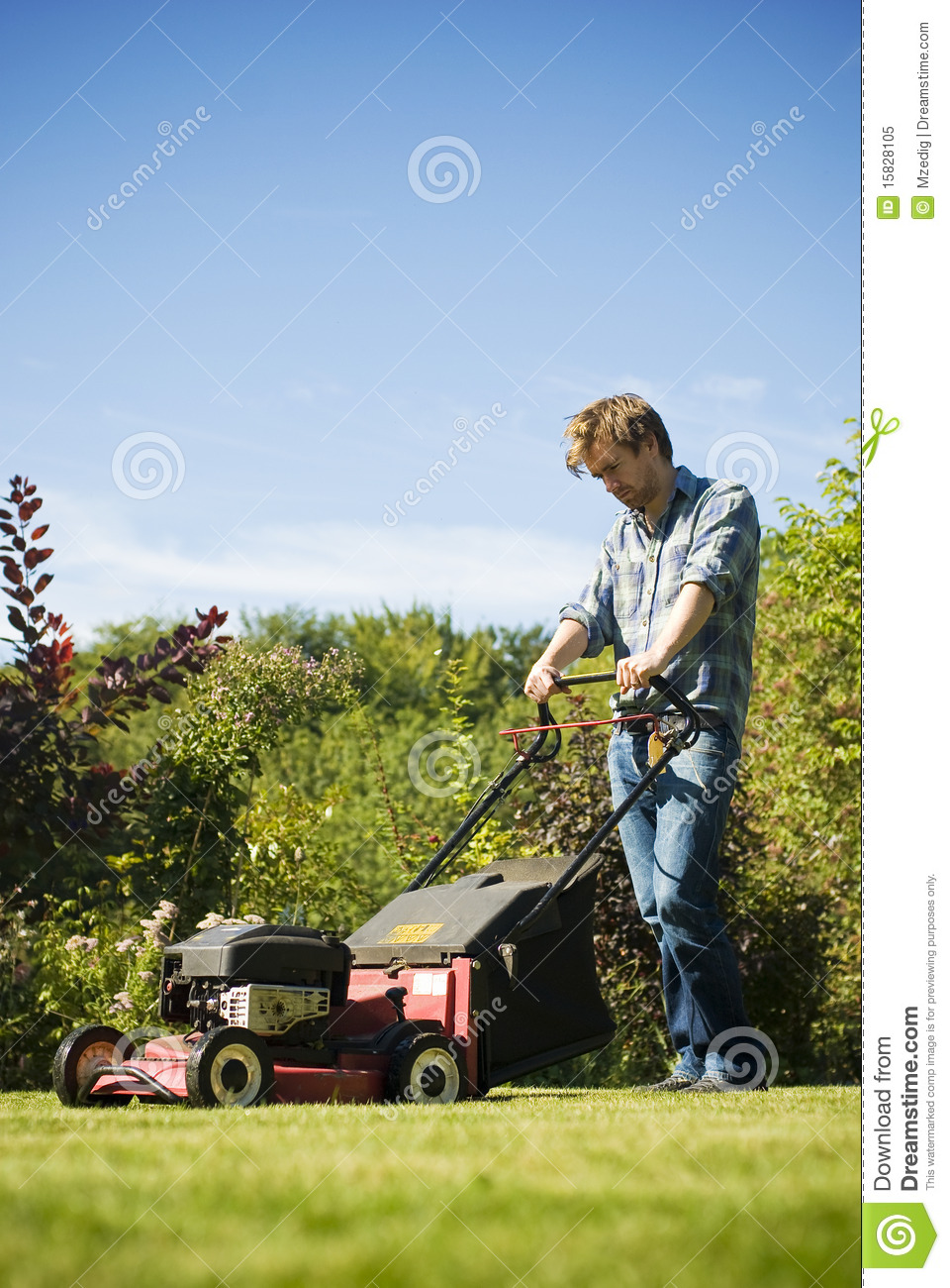 Viewing Gallery For - Man Cutting Grass