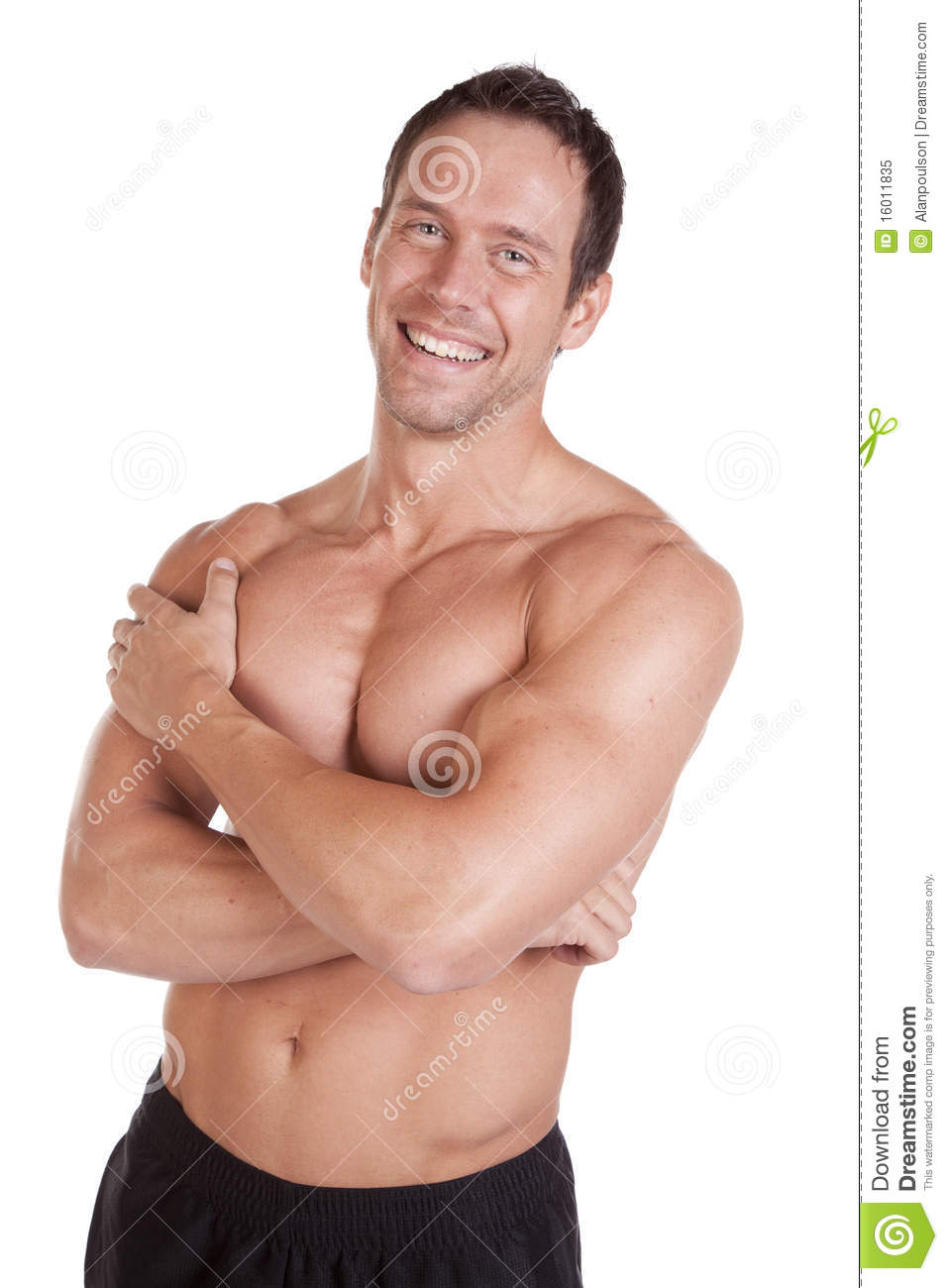 Man With Muscles Arms Crossed Stock Image - Image of caucasian ...
