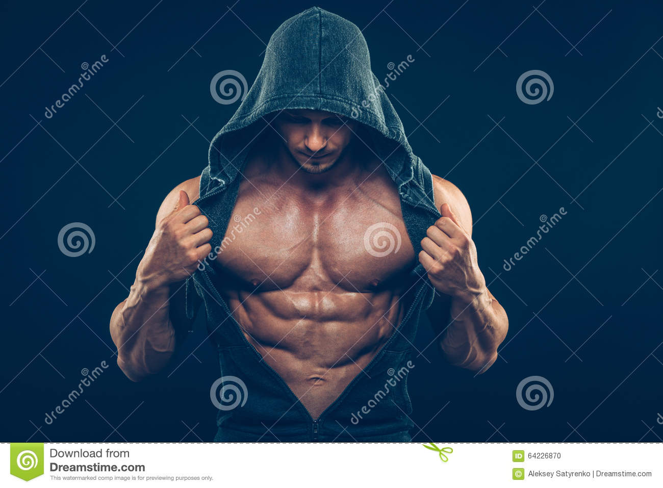 Man With Muscular Torso Strong Athletic Men Stock Photo Image Of