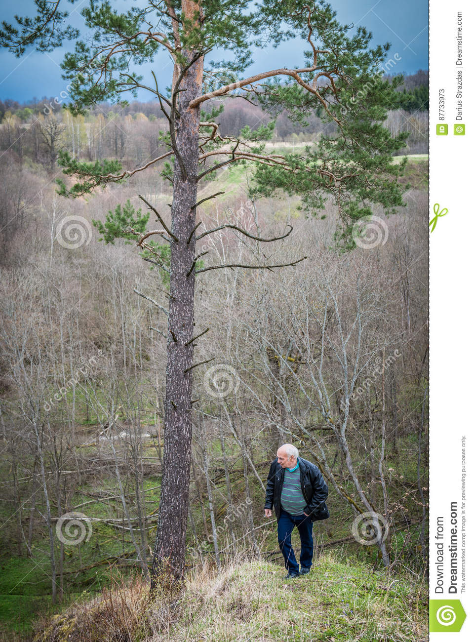 Man in nature alone