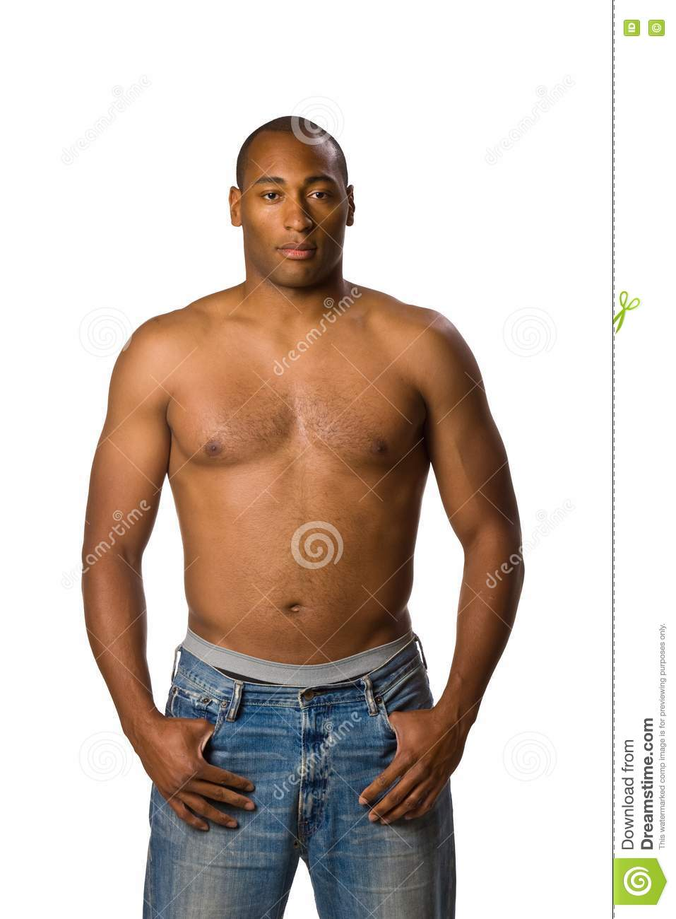 Man With No Shirt Stock Photo Image Of Portrait White 5497358