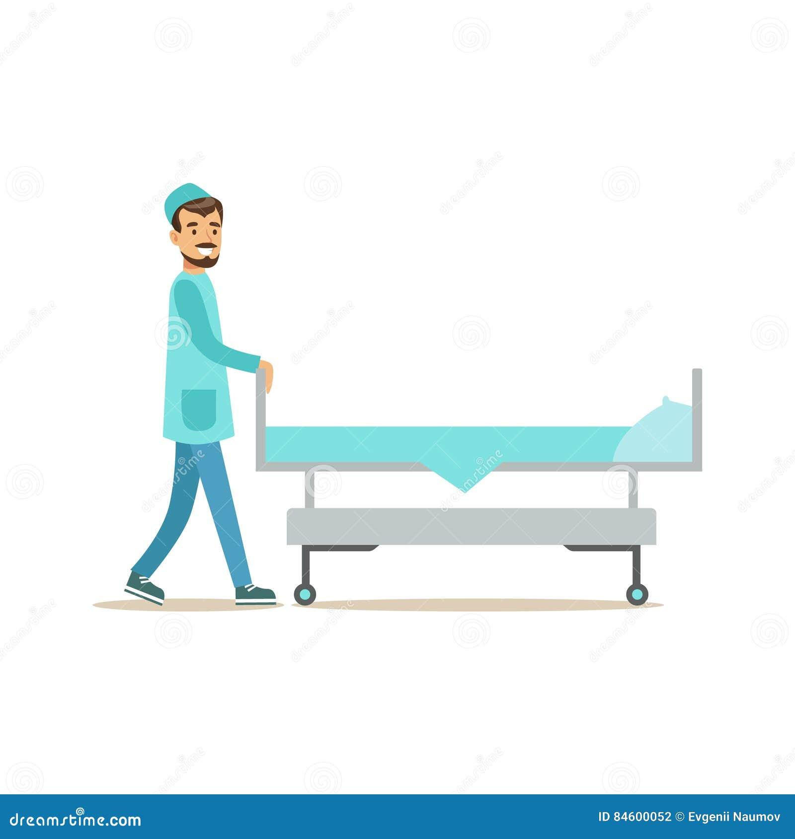 Hospital Bed Illustration Royalty-Free Illustration ...