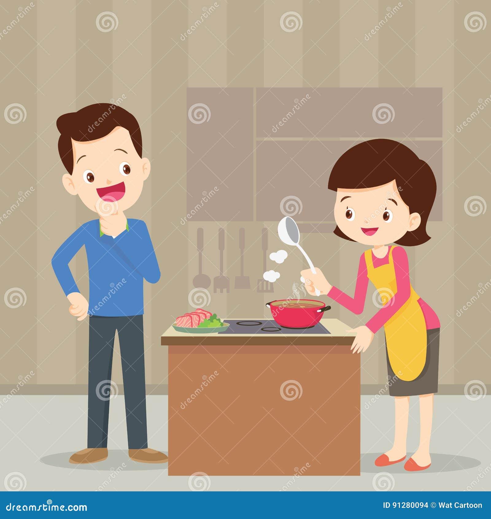 Man och kvinna i köket