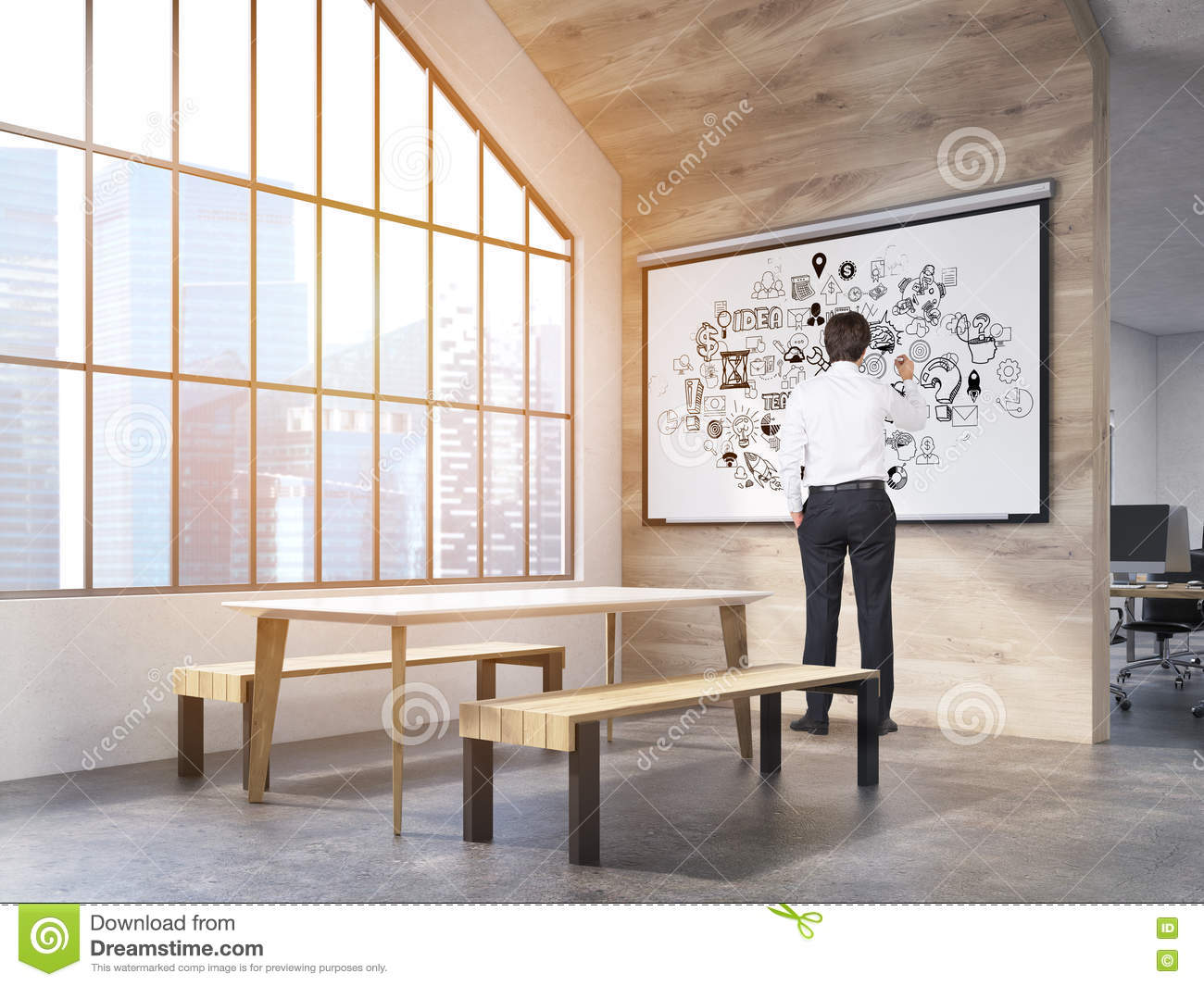 office canteen. Download Man In Office Canteen With Poster Stock Photo - Image Of Interior,  Floor: Office Canteen