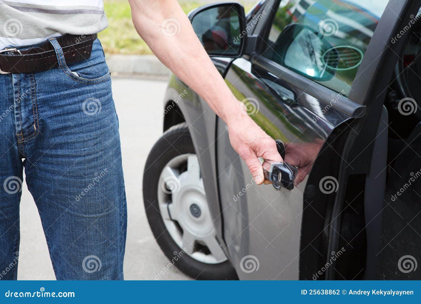 Man Opening Car Door Stock Photo 25638862 Megapixl