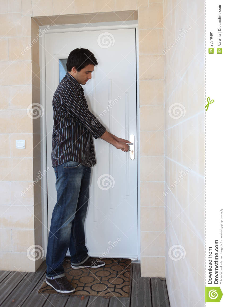 Man Opening Door Stock Image - Image: 25578481