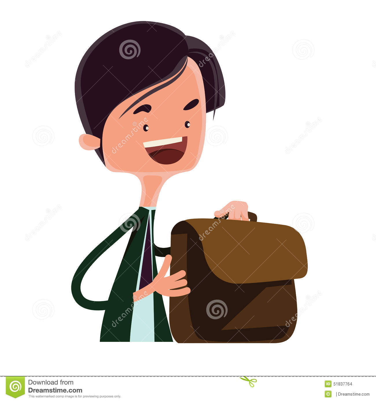 teen business man briefcase royalty stock photos image man packing his business bag illustration cartoon character stock images