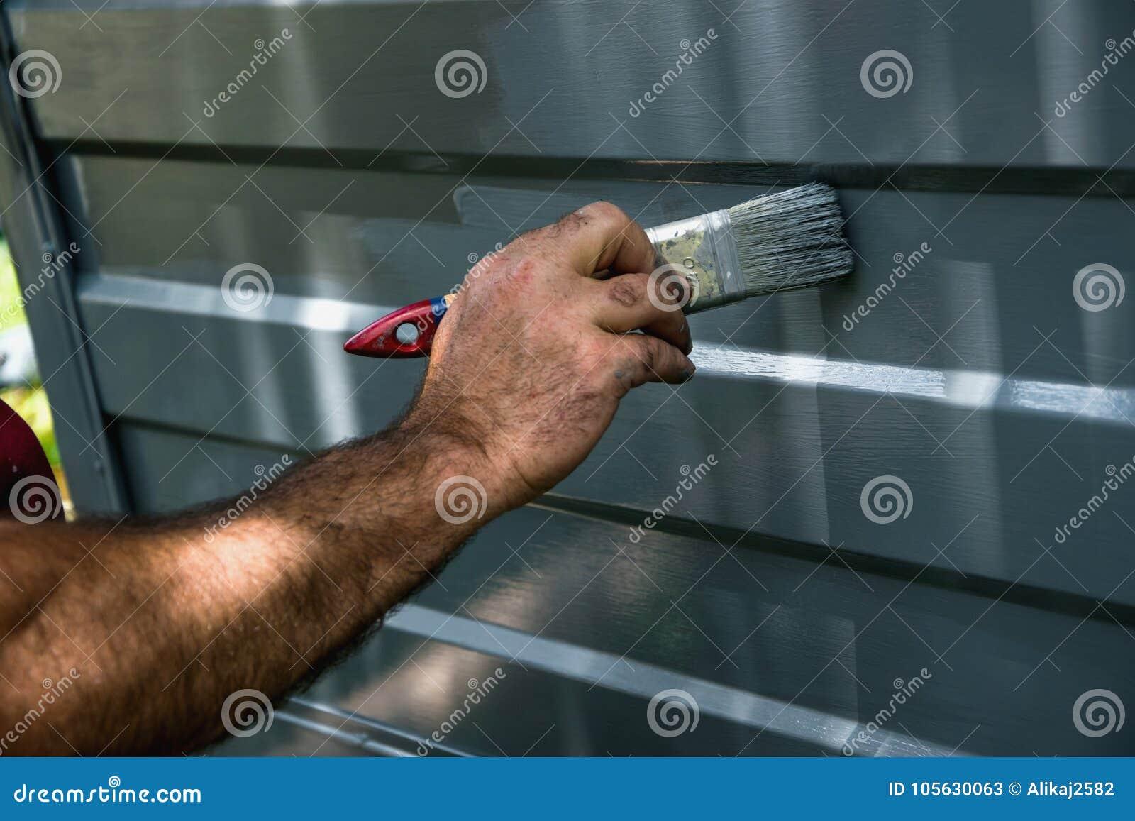 Painting the garage door