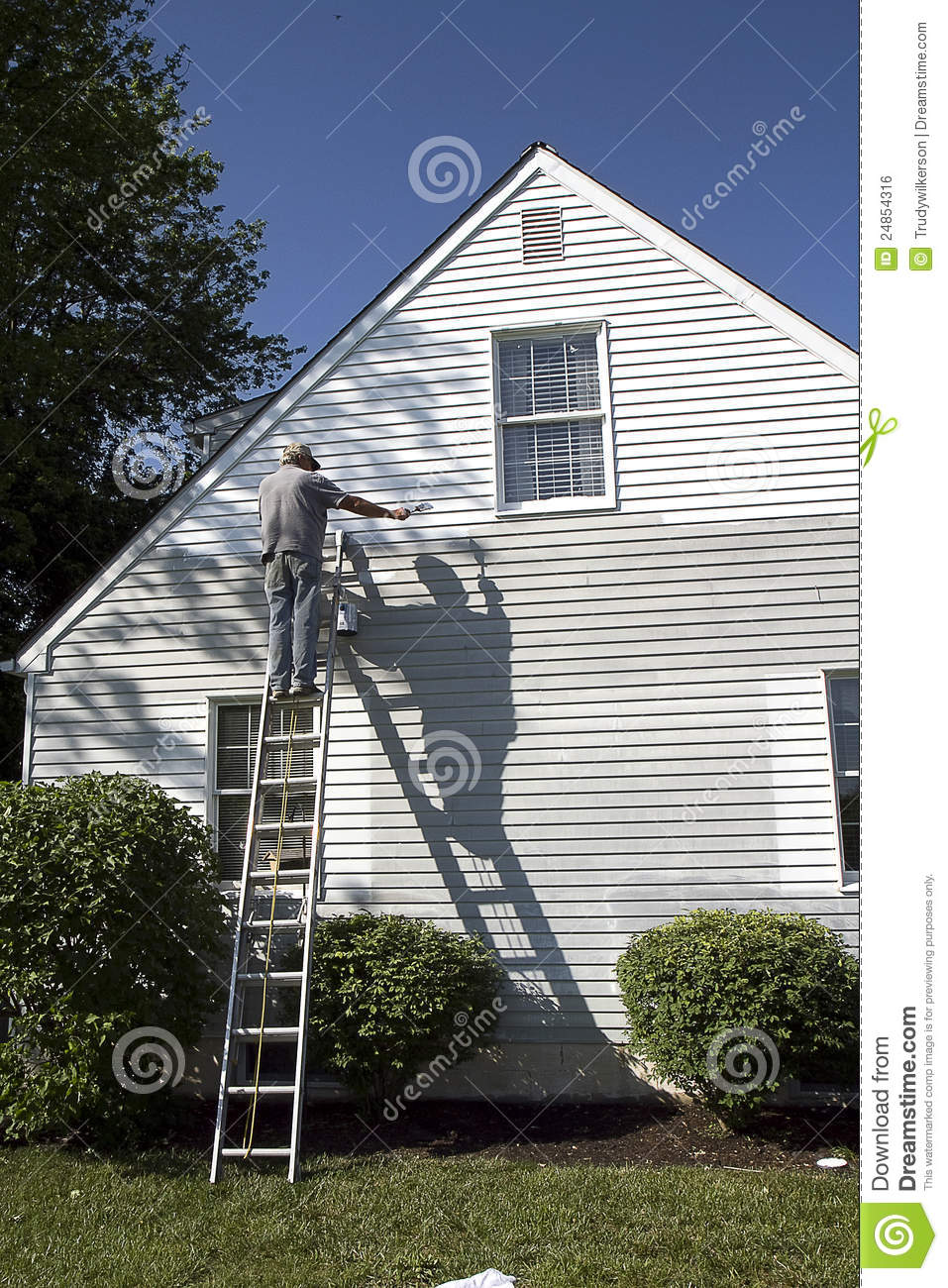 Man Painting Home Royalty Free Stock Image Image 24854316