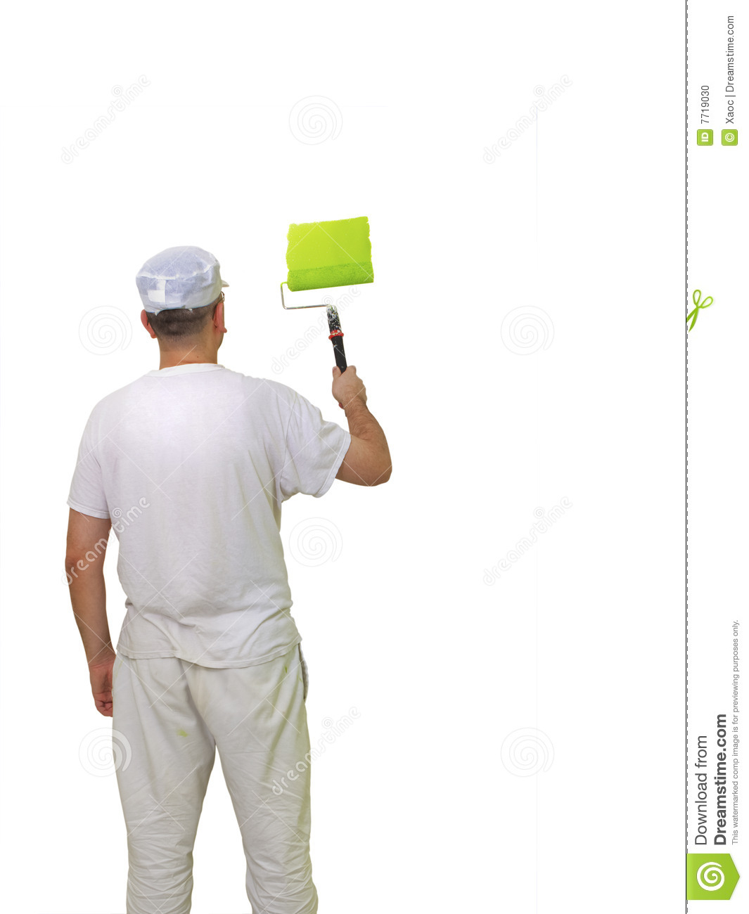Person painting wall - Wall White Painter