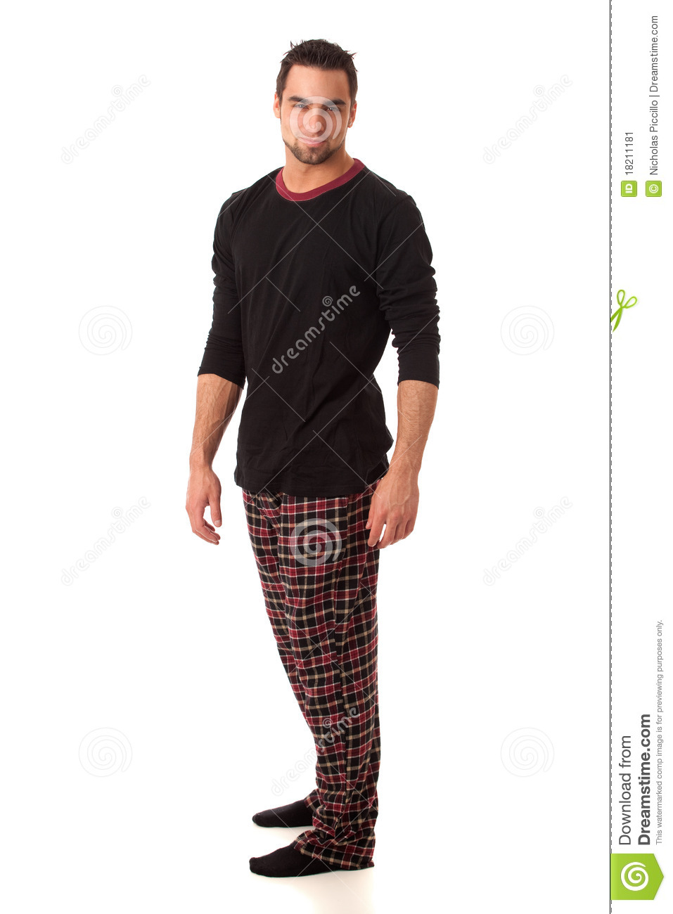 Man In Pajamas Stock Image Image 18211181