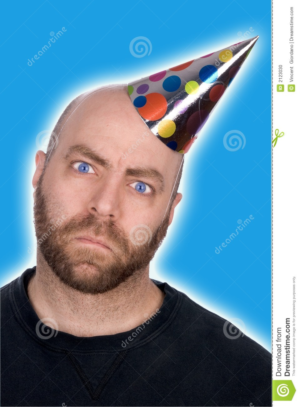 Man In Party Hat Stock Photo Image 2123030