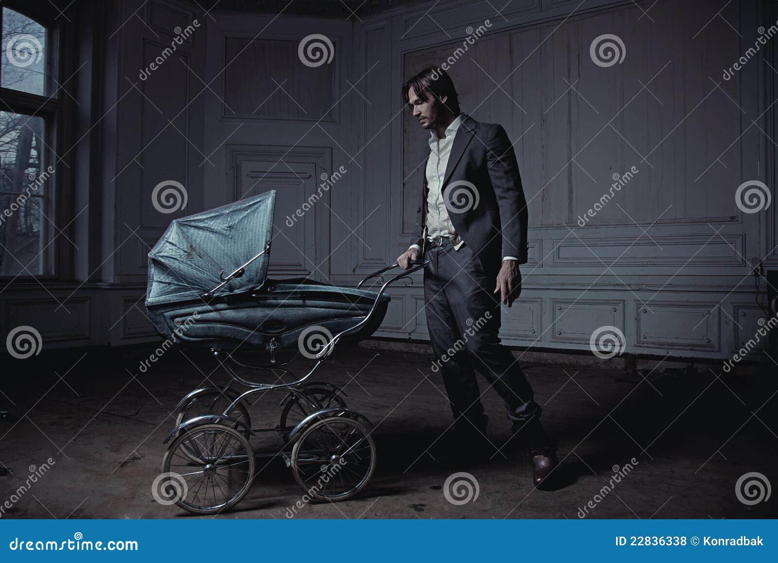 Man with a perambulator