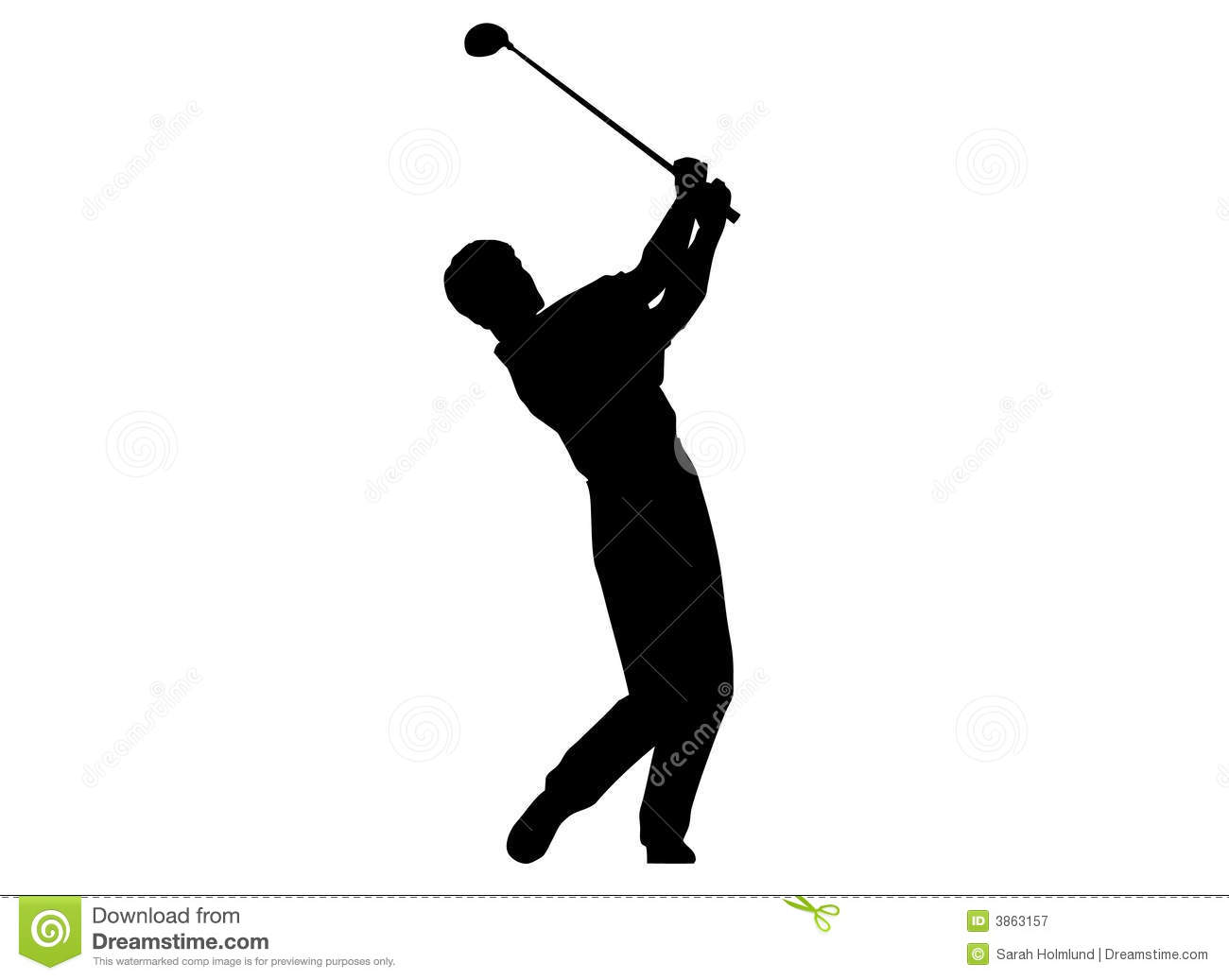 a man performing a golf swing royalty free stock photography