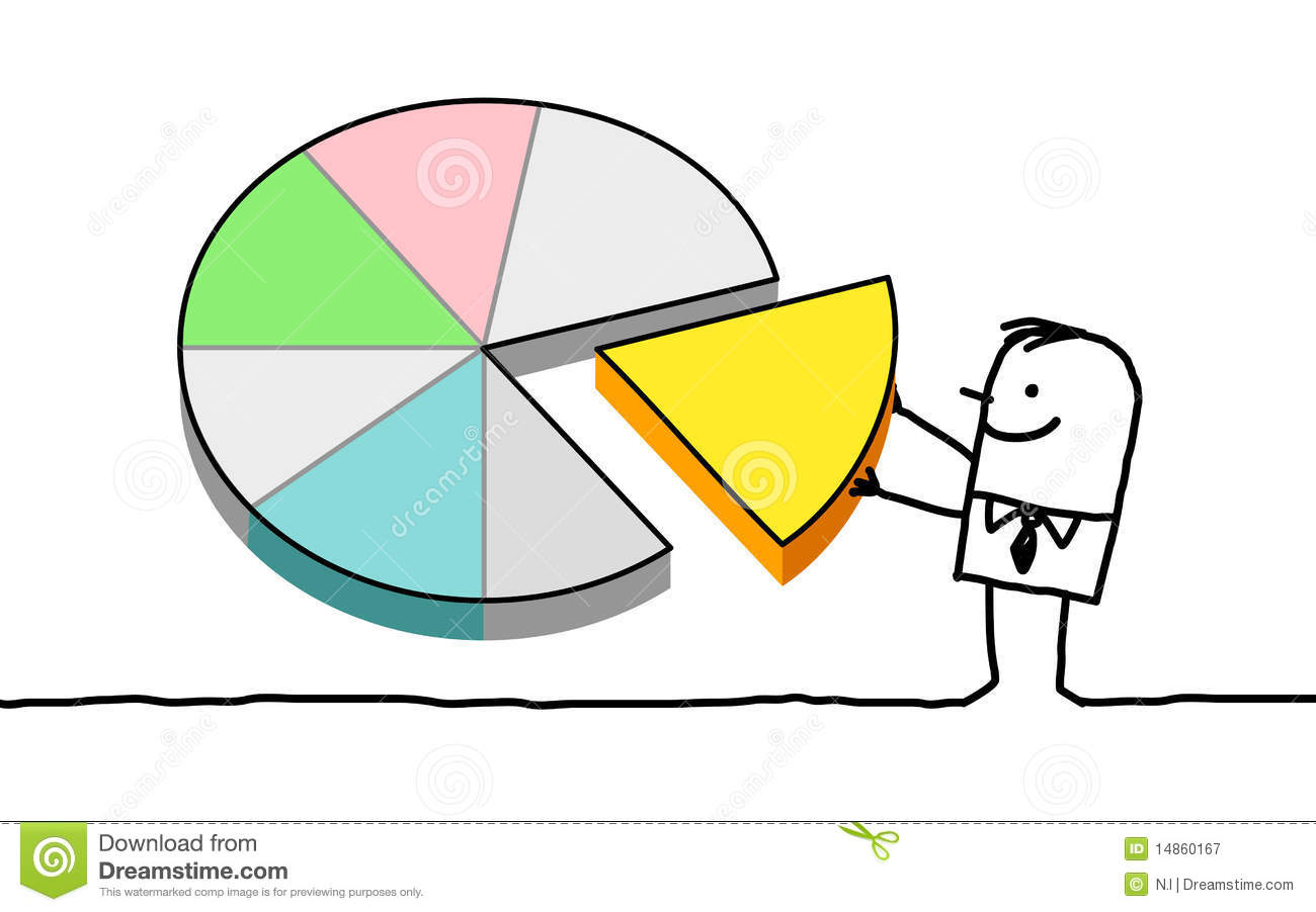 Man and pie chart