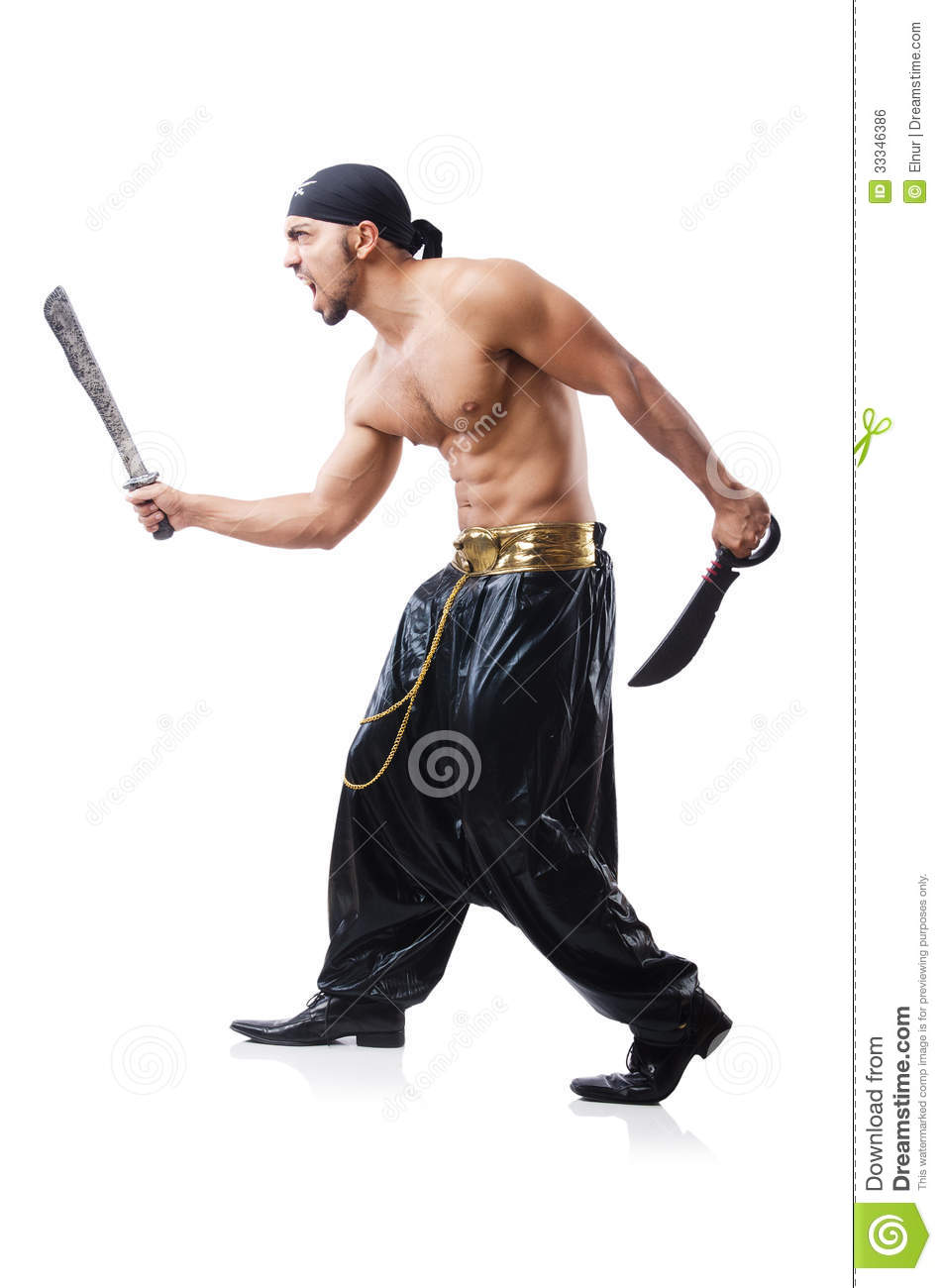 Man In Pirate Costume Royalty Free Stock Image - Image: 33346386