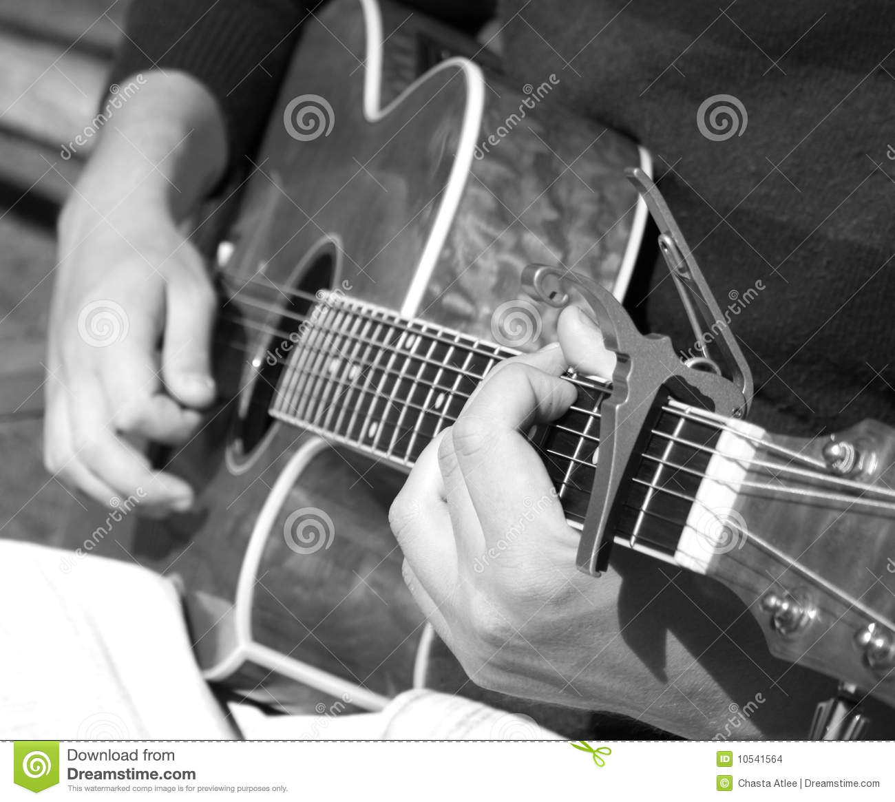 Man Playing Black Acoustic Guitar Stock Photos 1 769 Images