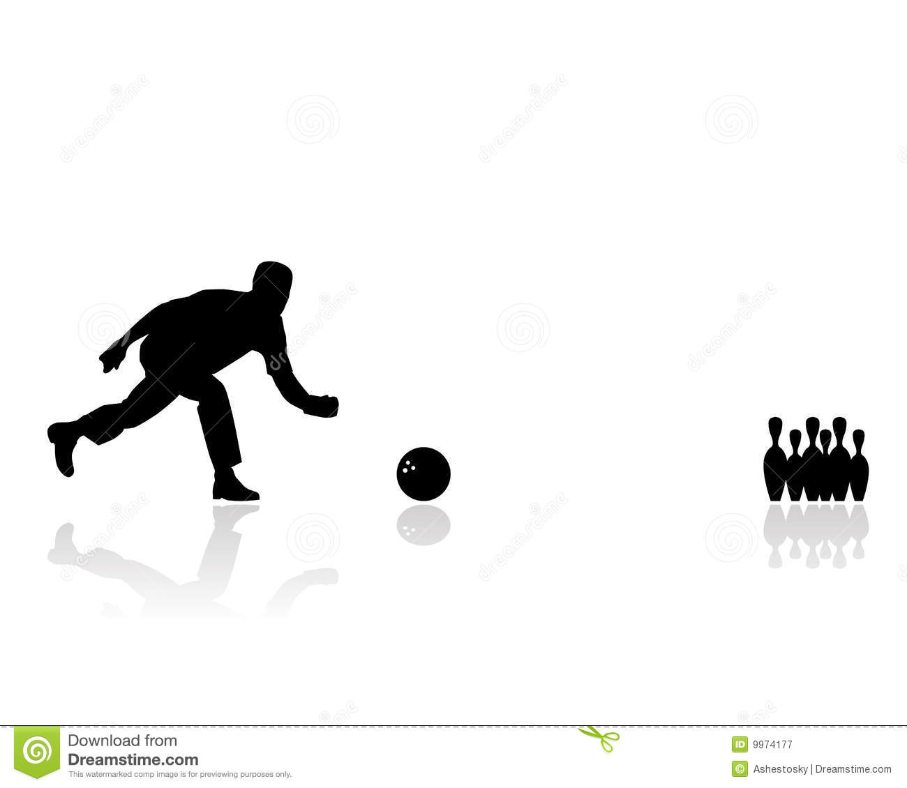 Man Playing Bowling Silhouette Royalty Free Stock Photography - Image ...