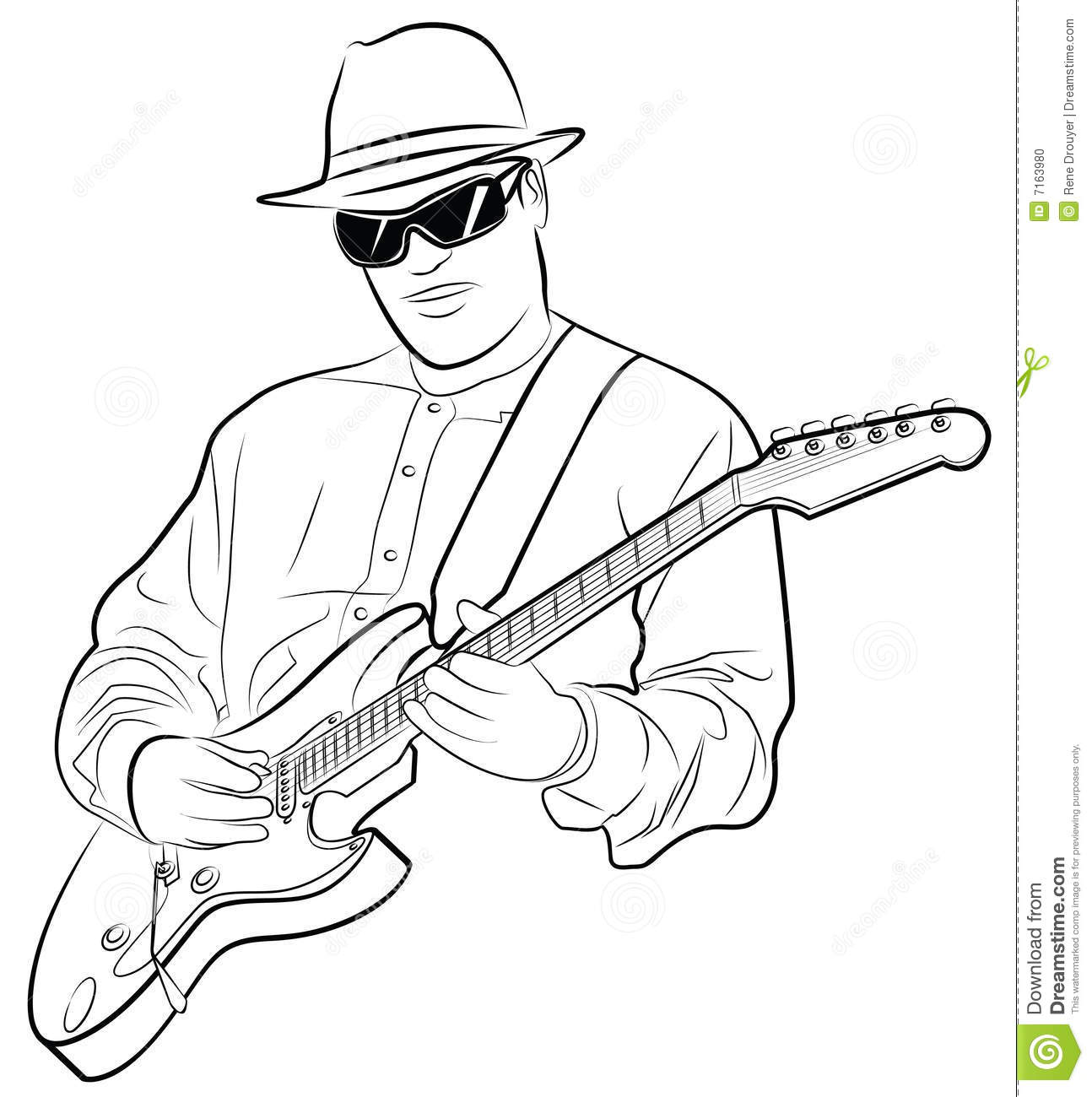 man playing electrical guitar stock photo