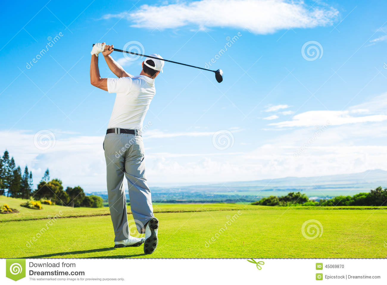 Man Playing Golf Stock Photo - Image: 45069870 Golf Ball On Tee Clipart