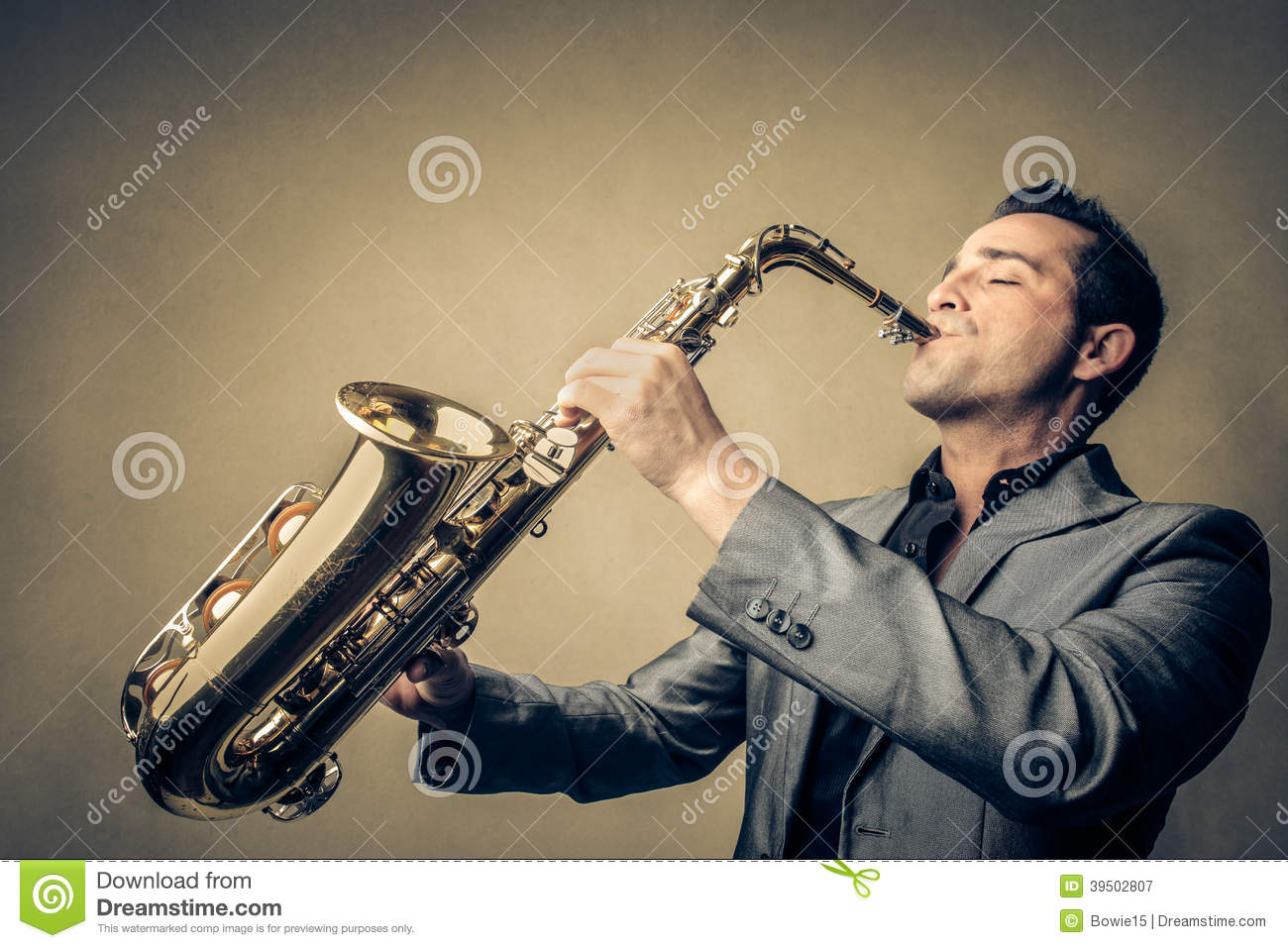 Man playing the sax