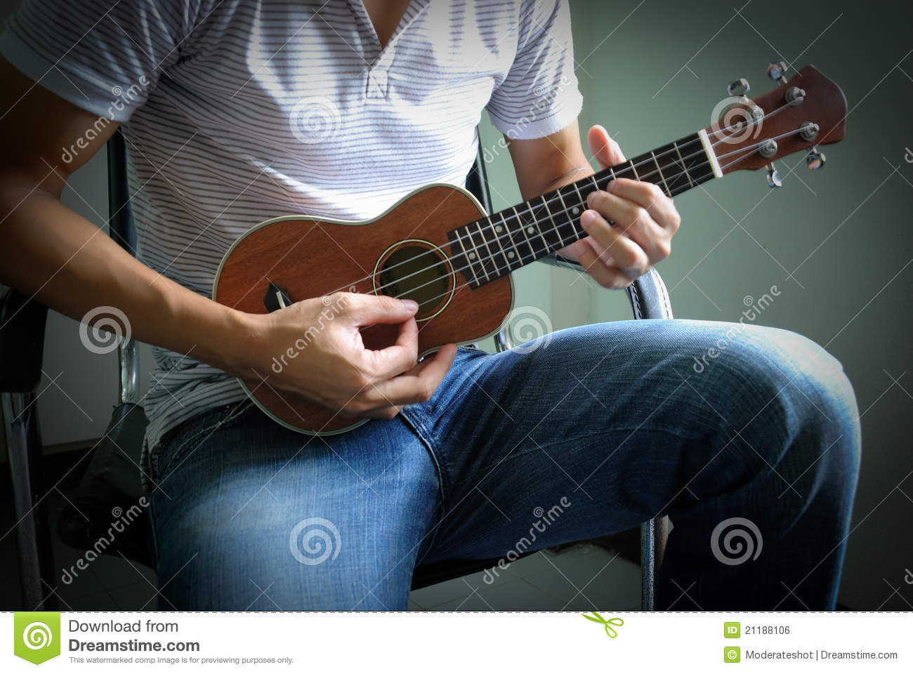 Ukulele Background Man playing ukulele st...