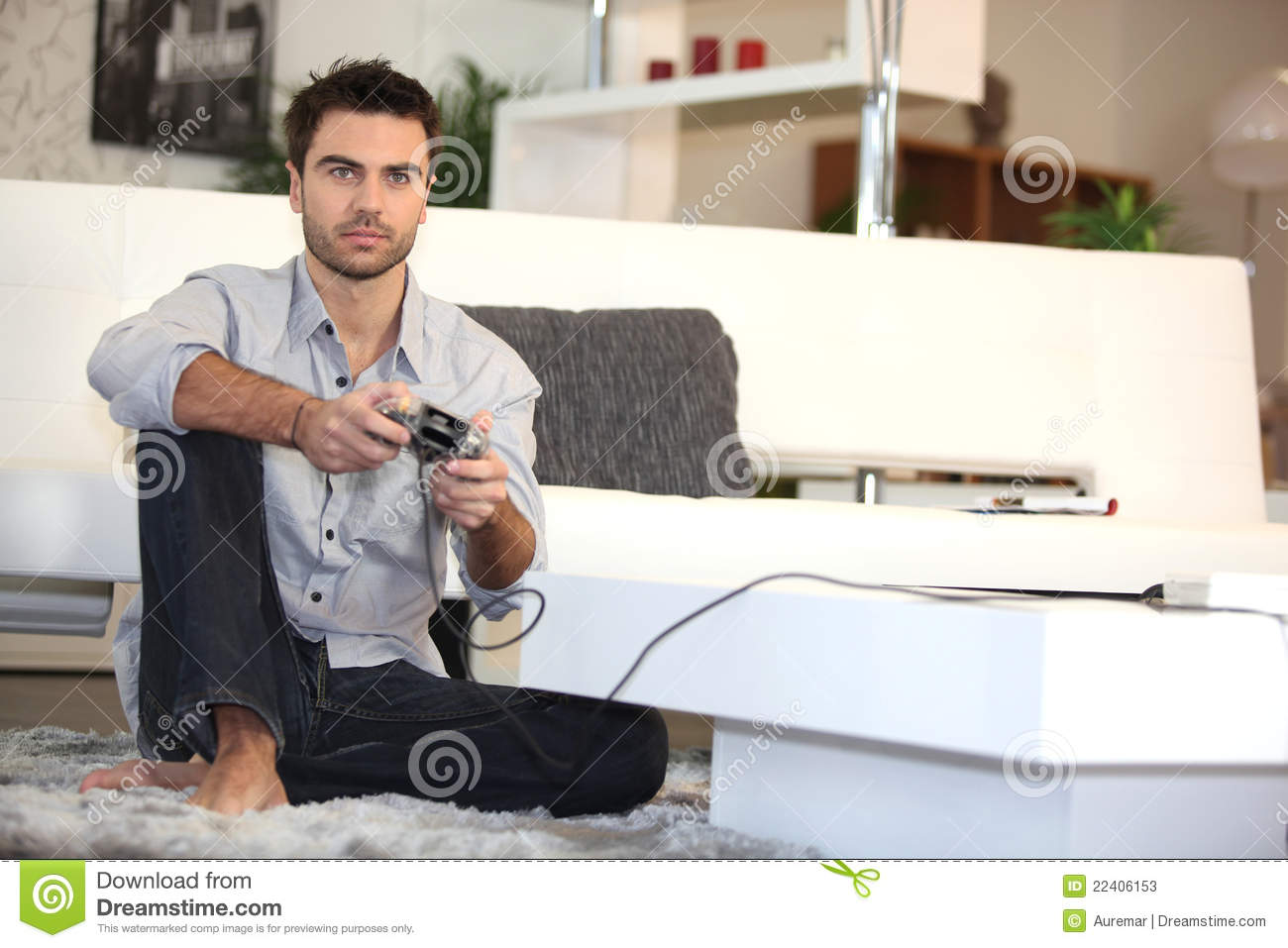 Home Recording Studio Design Book Man Playing Video Games Alone Stock Photos Image 22406153
