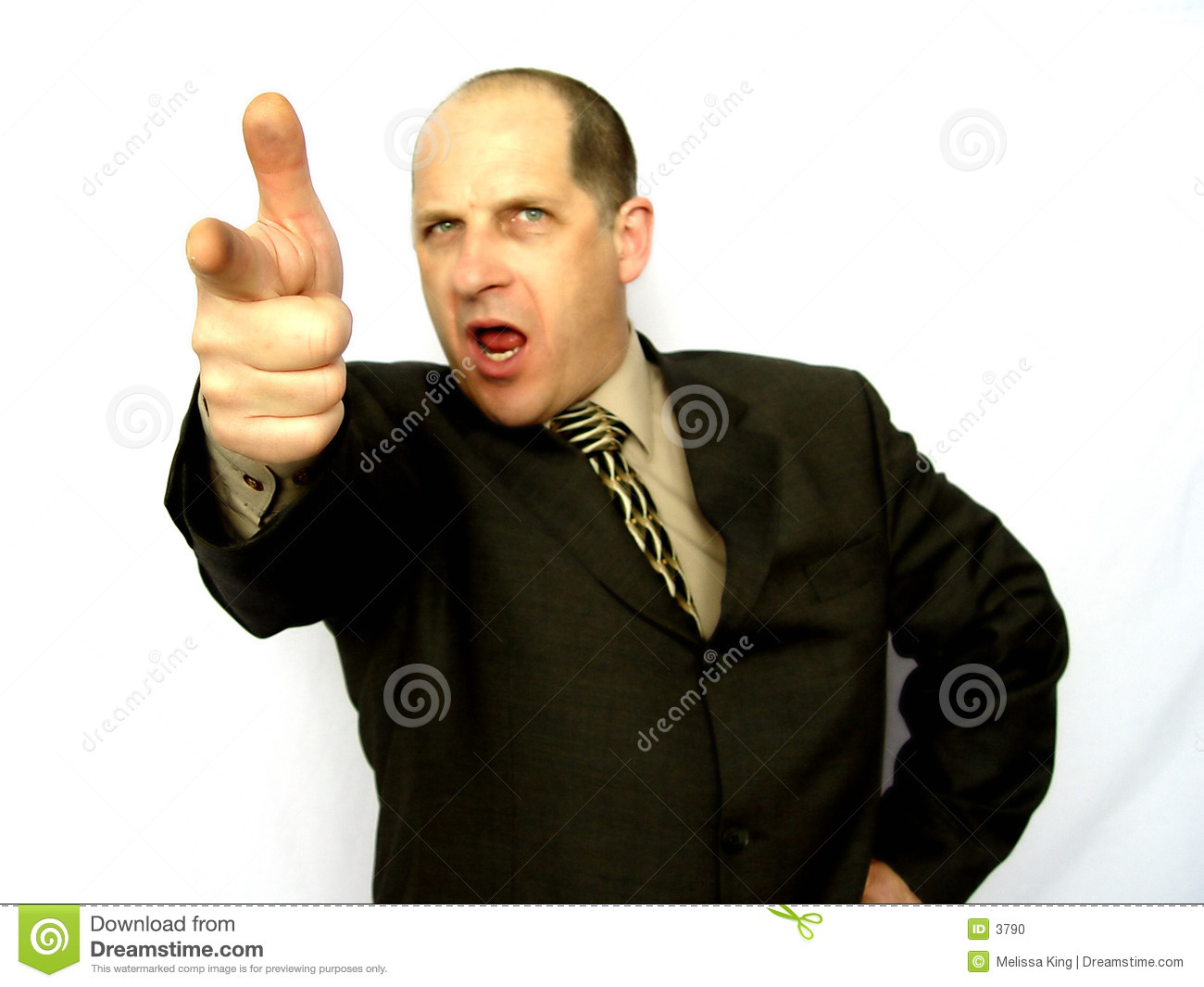 Man Pointing The Finger Stock Photo Image 3790