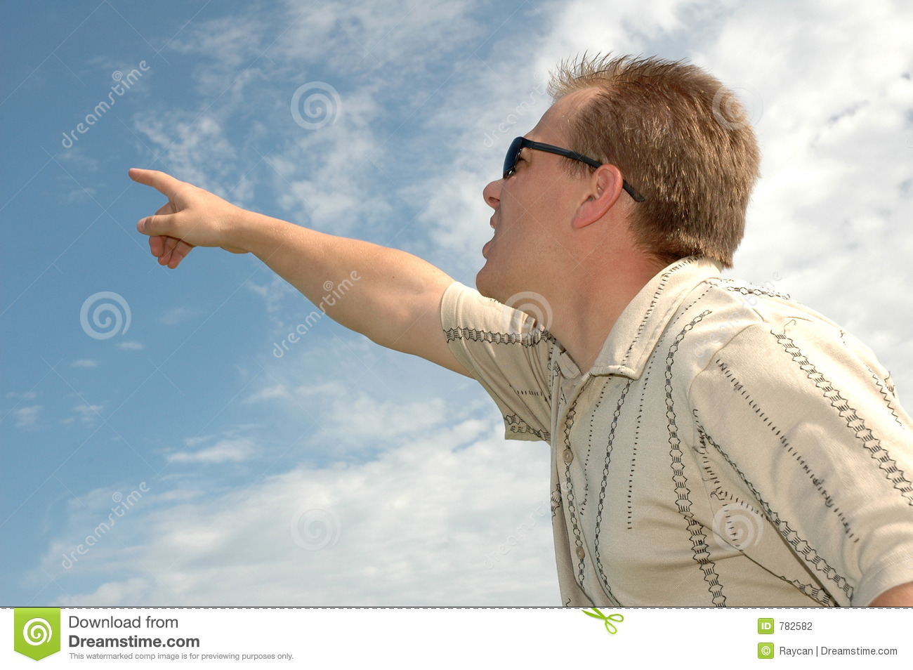 Man Pointing To The Sky Stock Photography - Image: 782582