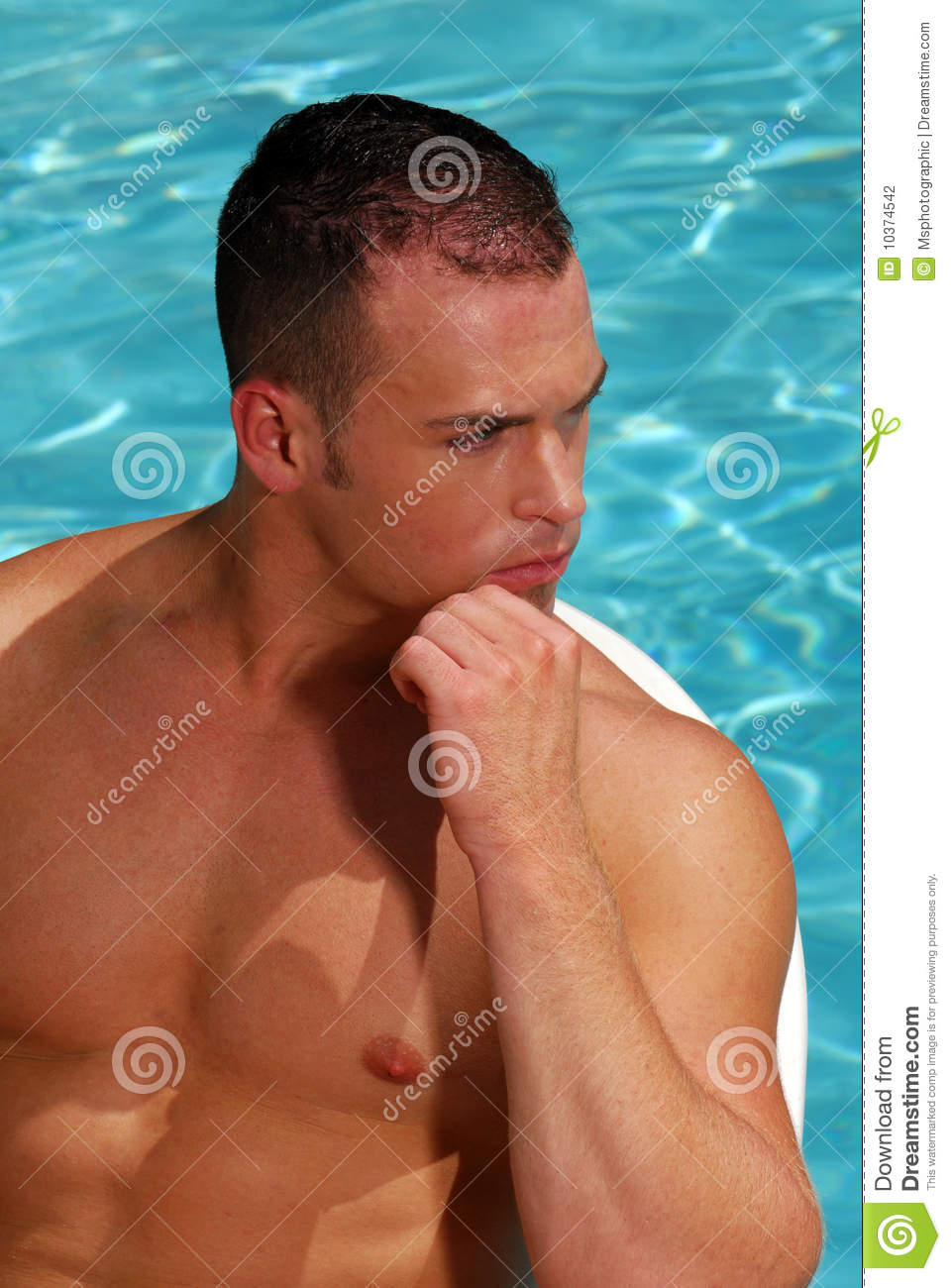 Man at the pool stock photography image 10374542 for Pool man show
