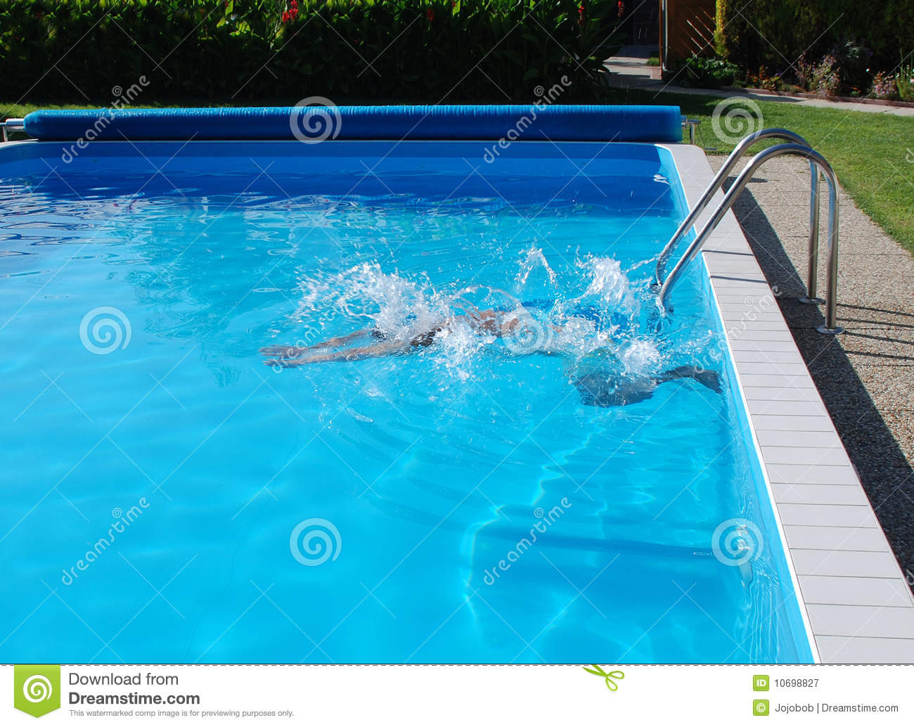 Man In Pool Royalty Free Stock Photography Image 10698827