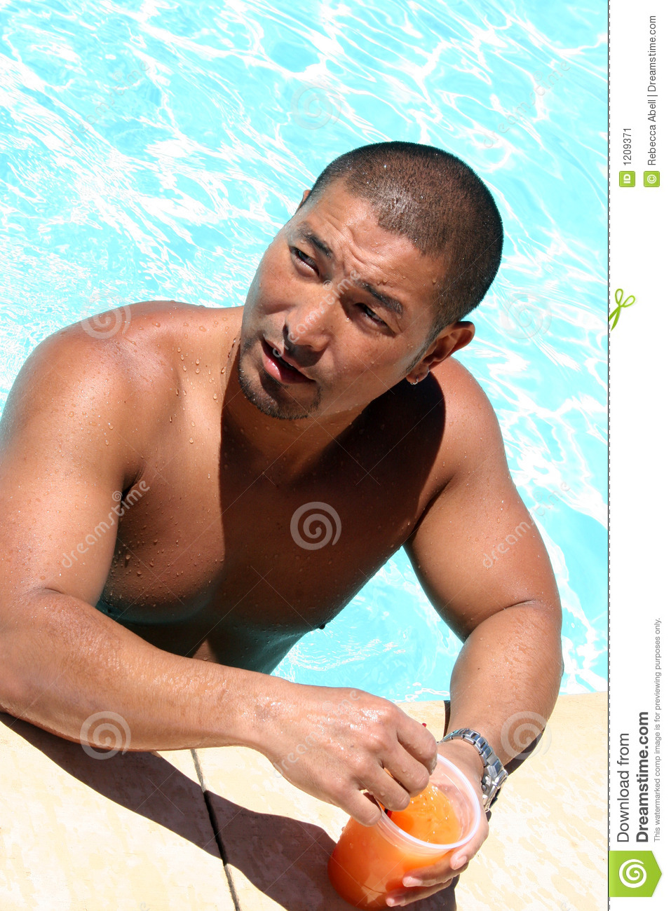 Man at the pool stock image image 1209371 for Pool man show