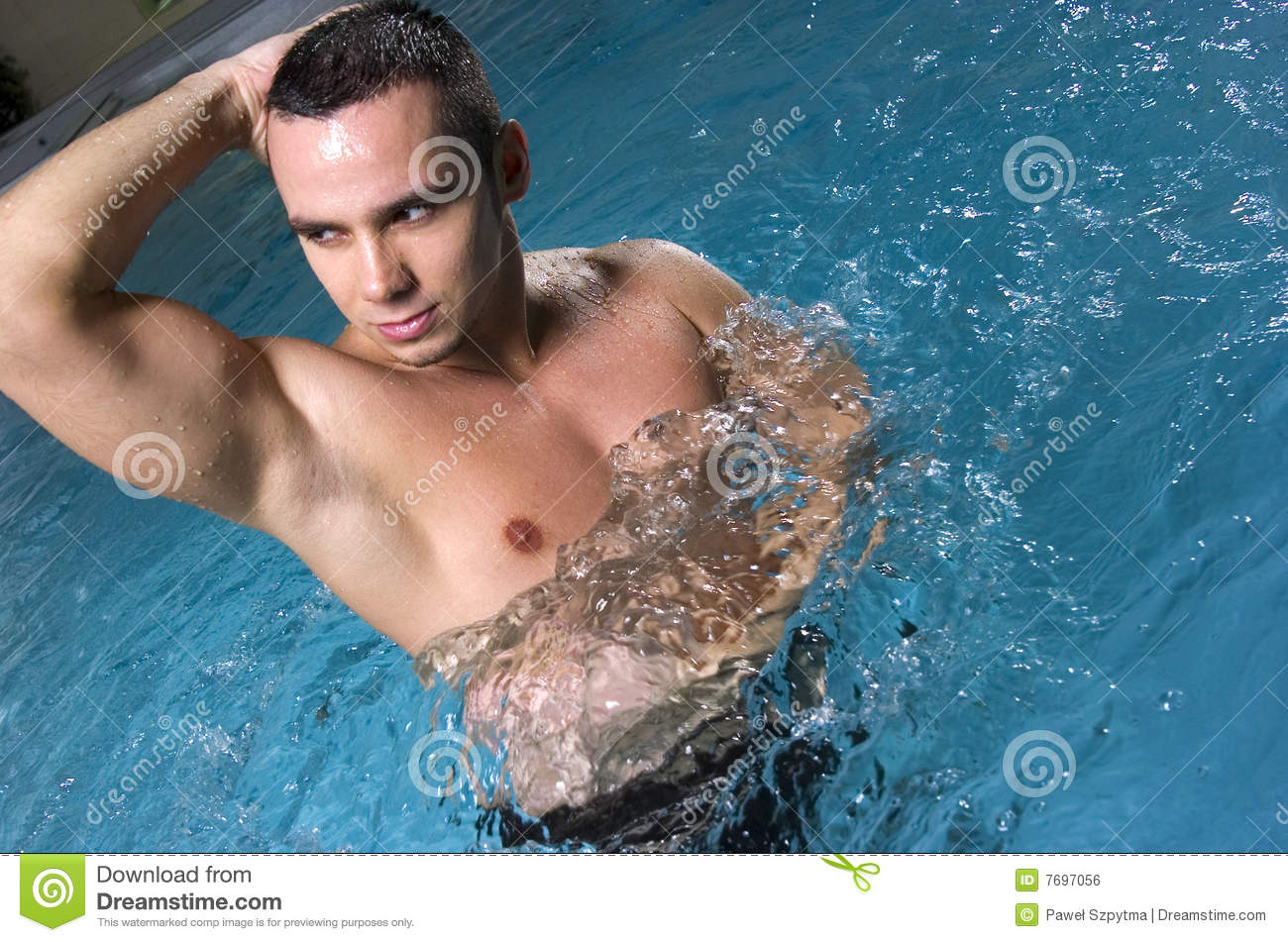 Man in the pool royalty free stock image image 7697056 for Pool man show