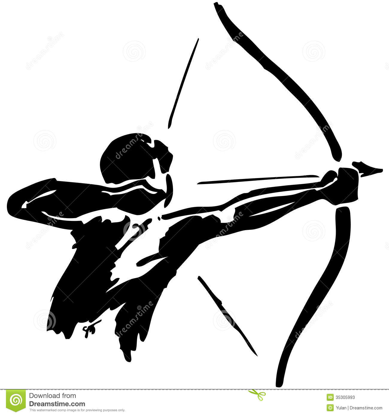 Man Practices Archery Stock Photos - Image: 35305993: www.dreamstime.com/stock-photos-man-practices-archery-white...