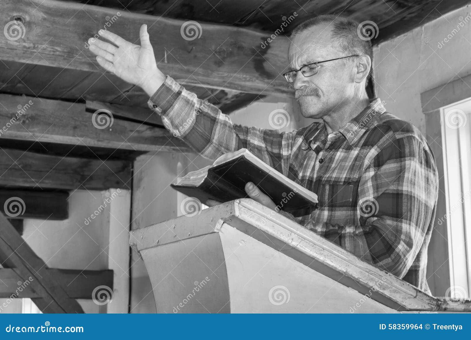 Download Man preaching stock photo. Image of information, evangelist - 58359964