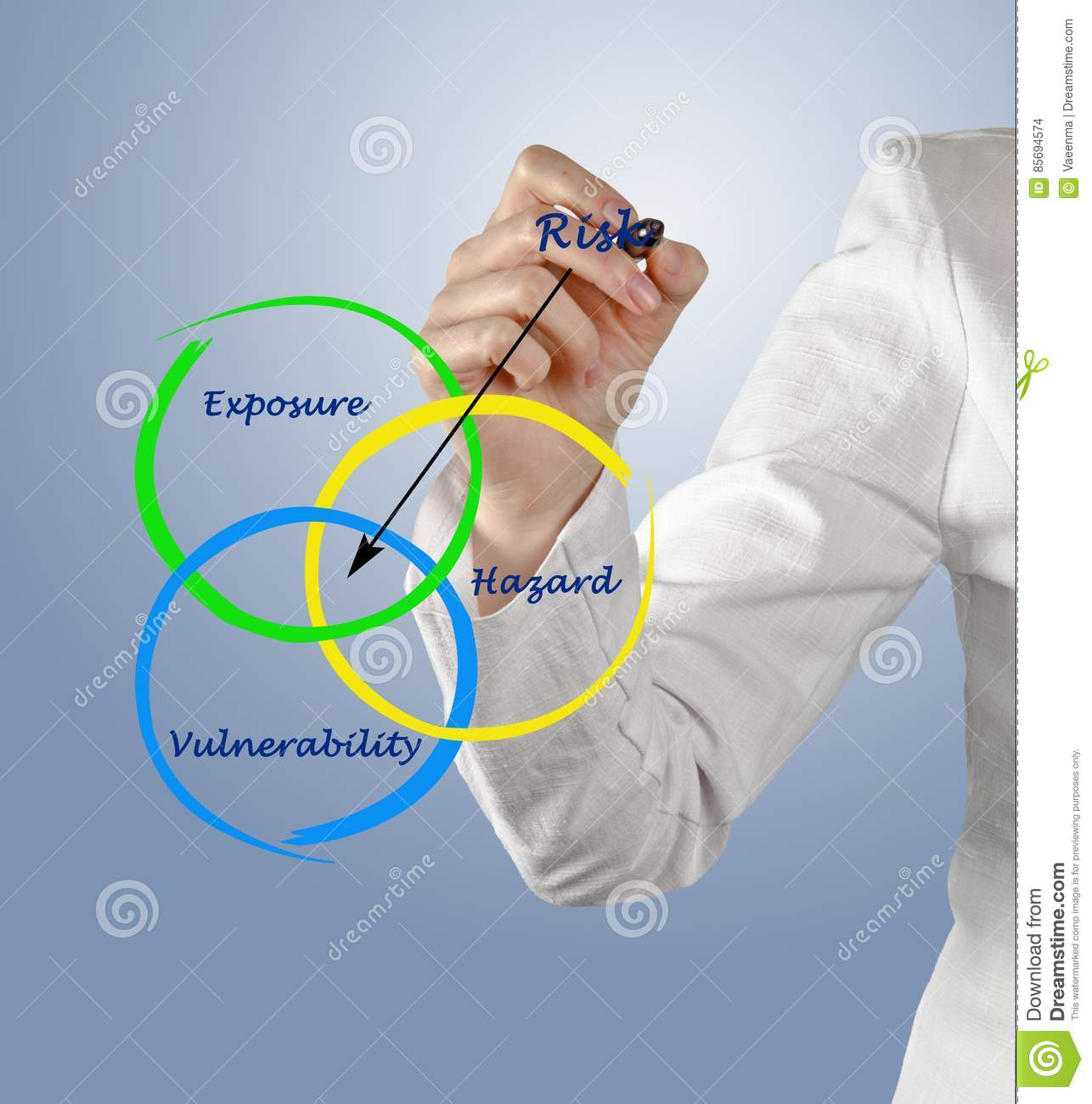 Diagram Of Risk Stock Photo Image Of Cash Concept Lecture 85694574