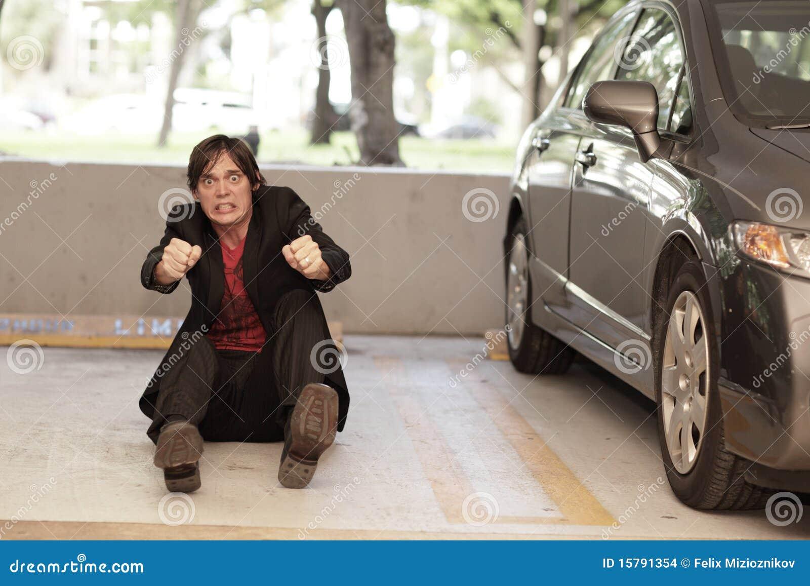 man pretending to drive a car stock photo image 15791354. Black Bedroom Furniture Sets. Home Design Ideas